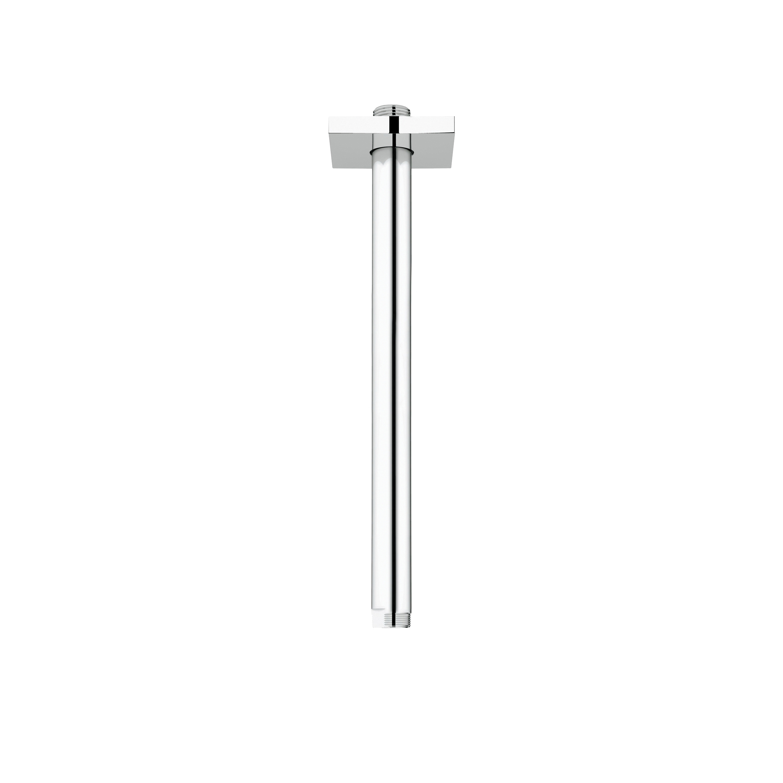 GROHE 27487000 Rainshower® Ceiling Shower Arm With Square Flange, 12 in L, 1/2 in NPT, Import