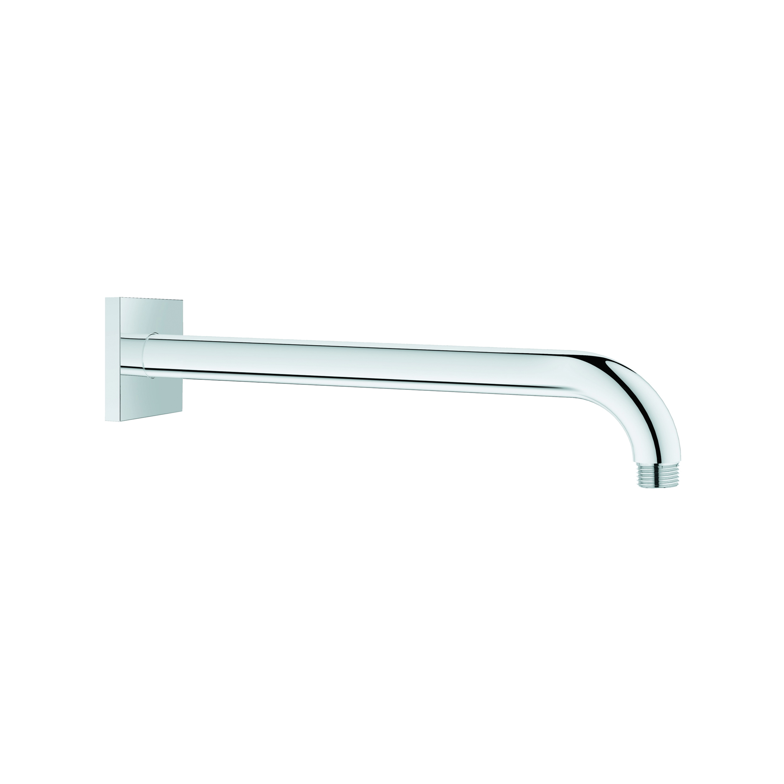 GROHE 27489000 Rainshower® Shower Arm With Square Flange, 10-13/16 in L, 1/2 in NPT, Import