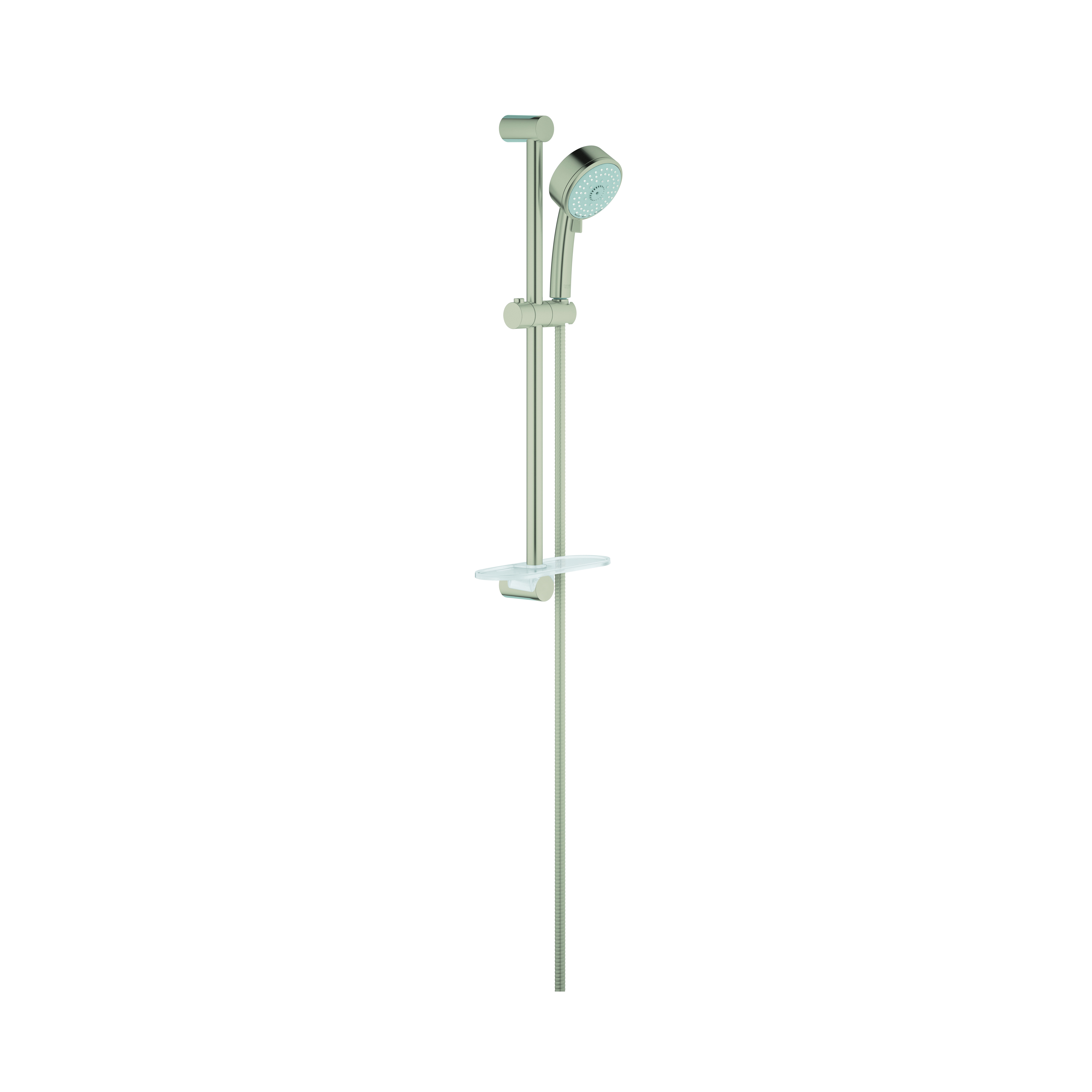 GROHE 27577EN1 New Tempesta® Cosmopolitan 100 Shower Rail Set, 3-15/16 in Dia Head, 2.5 gpm, 69 in L Hose, G-1/2, Brushed Nickel, Import