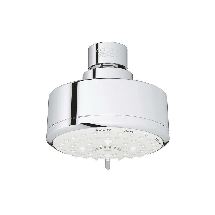 GROHE 27591001 New Tempesta Cosmopolitan 100 Shower Head, 2.5 gpm, 4 Sprays, 3-15/16 in Dia Head, Import