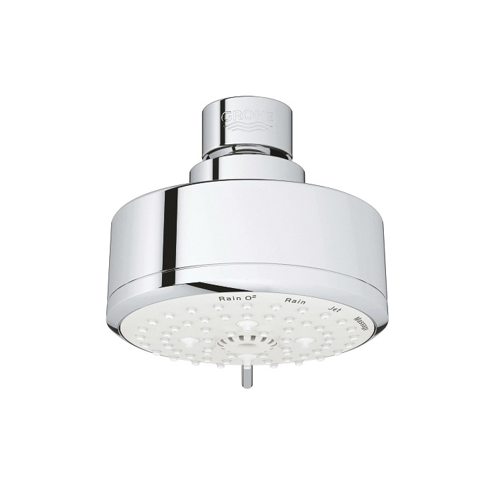 GROHE 27591001 New Tempesta Cosmopolitan 100 Shower Head, 2.5 gpm, 4 Sprays, 3-15/16 in Dia Head, Import
