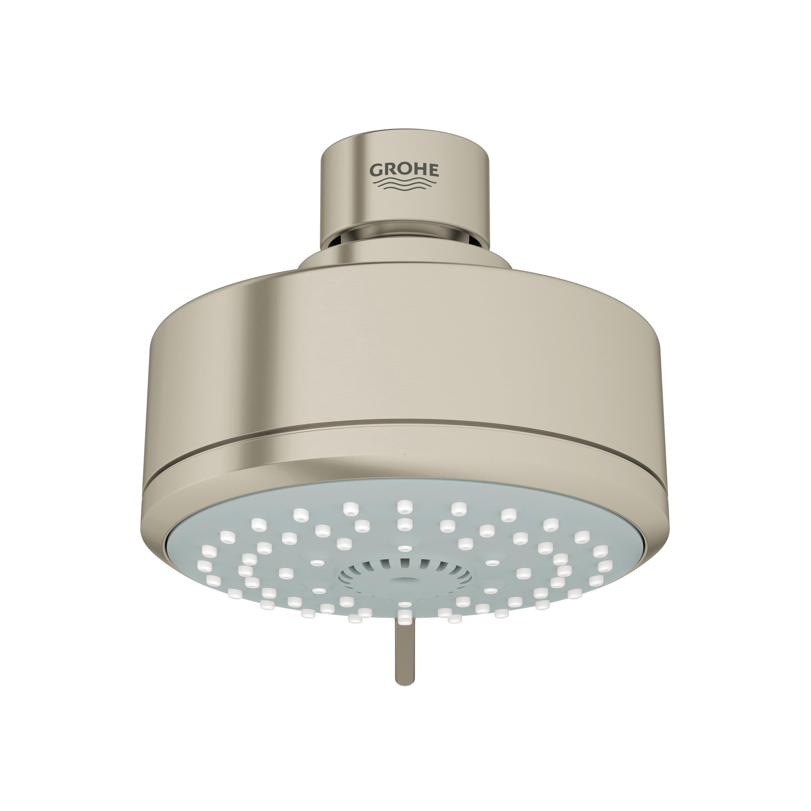 GROHE 27591EN0 New Tempesta® Cosmopolitan 100 Shower Head, 2.5 gpm, 4 Sprays, Wall Mount, 3-15/16 in Dia Head, Import