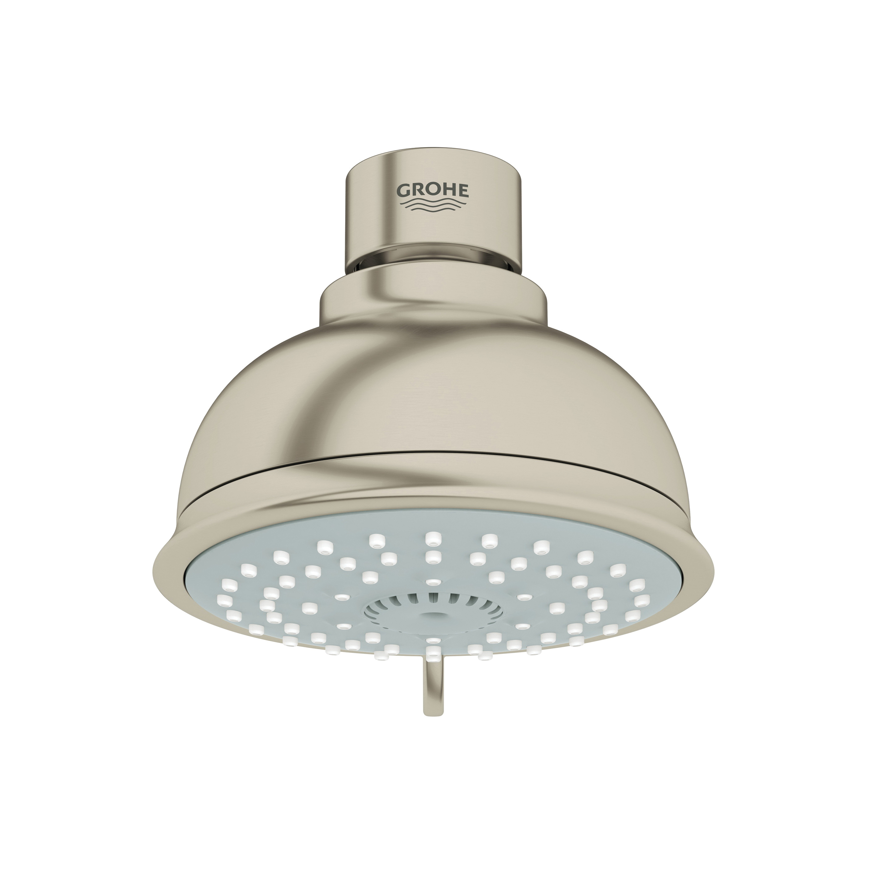 GROHE 27610EN0 New Tempesta® Rustic 100 Shower Head, 2.5 gpm, 4 Sprays, Wall Mount, 3-15/16 in Dia Head, Import