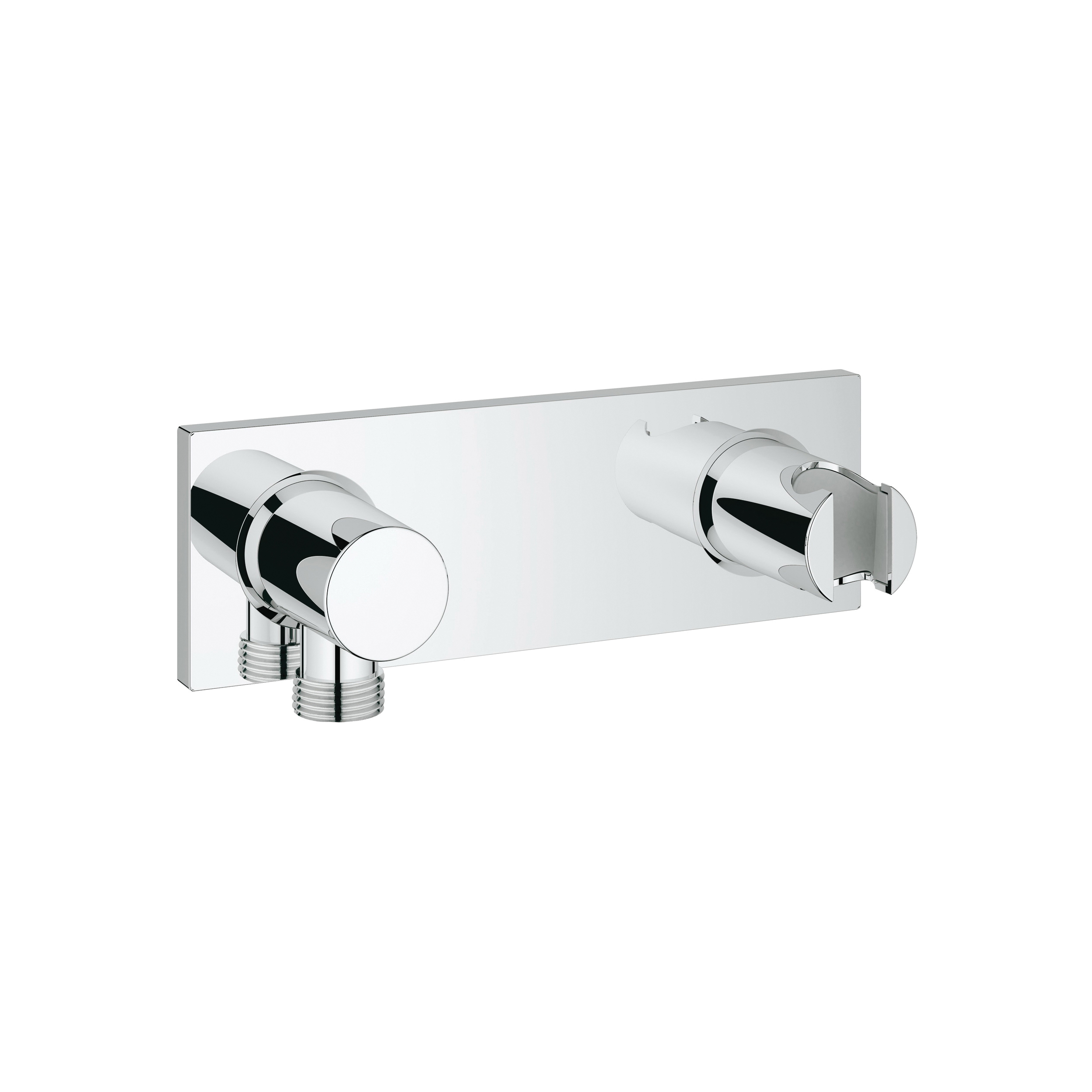 GROHE 27621000 Grohtherm F Wall Union With Intergrated Hand Shower Holder, 1/2 in, MNPT x FNPT, Brass, Import
