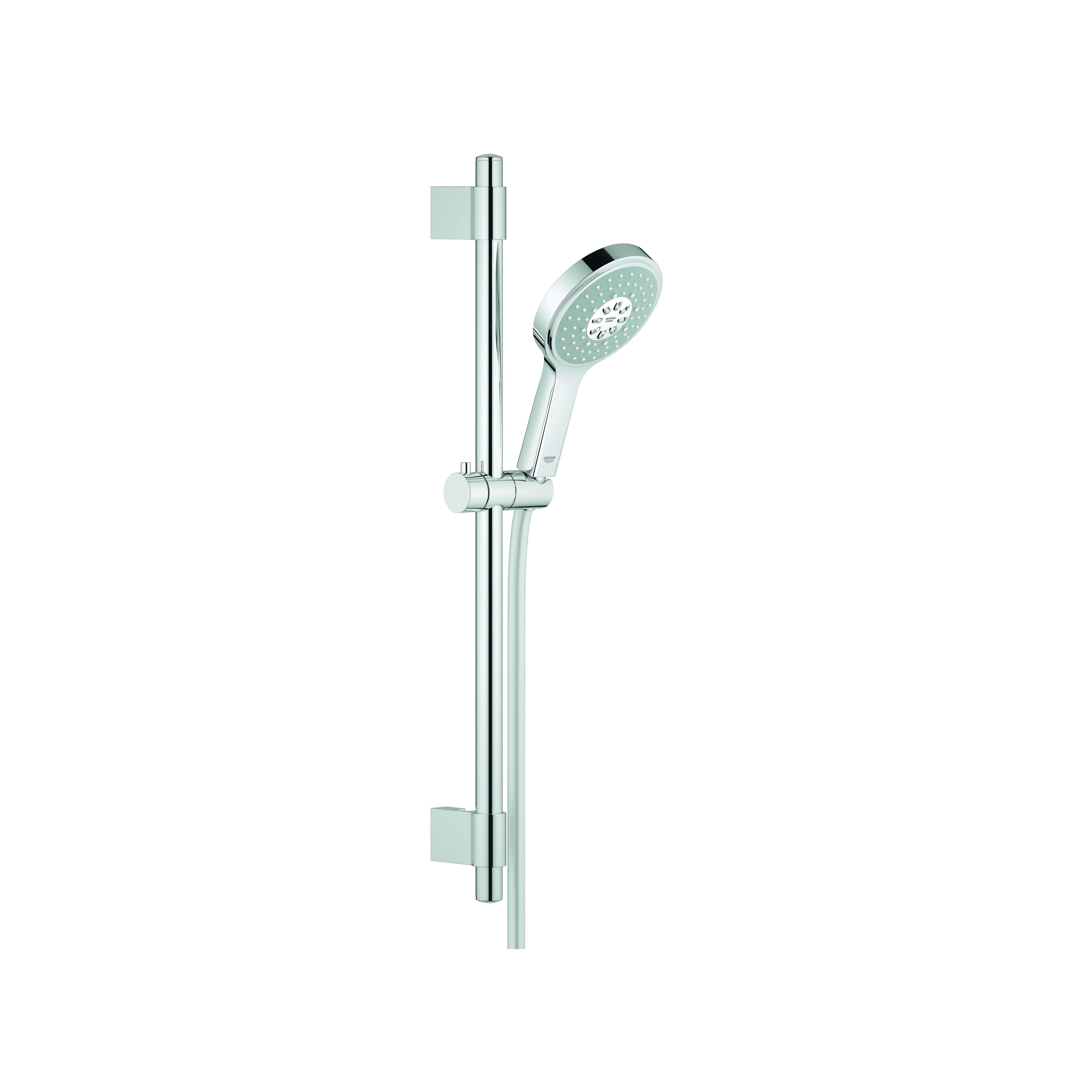 GROHE 27732000 Power&Soul® Cosmopolitan 130 Shower Set, 2.5 gpm, 69 in L Hose, G-1/2, Slide Bar: Yes, Chrome Plated, Import
