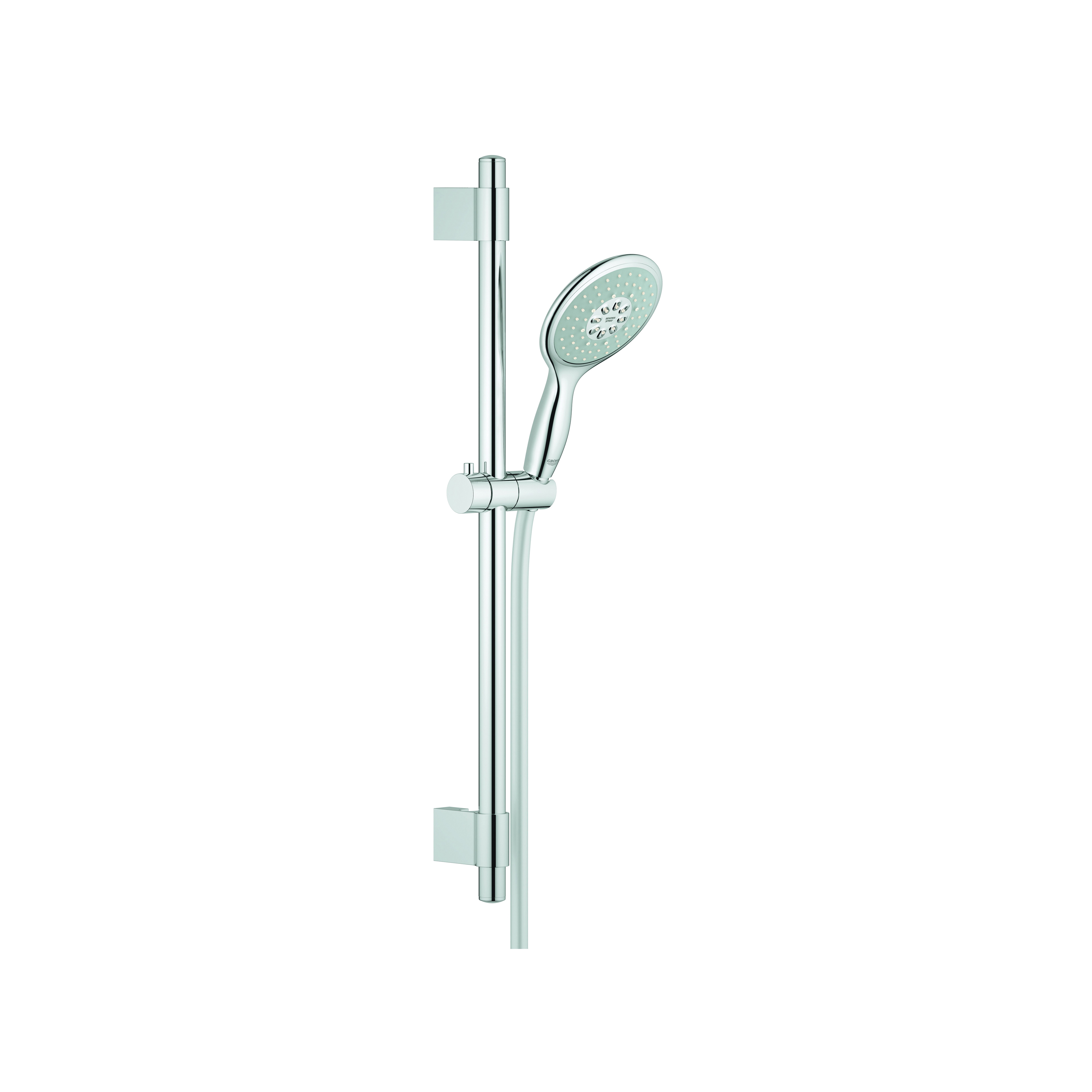 GROHE 27736000 Power&Soul® 130 Shower Set, 2.5 gpm, 69 in L Hose, G-1/2, Slide Bar: Yes, Chrome Plated, Import