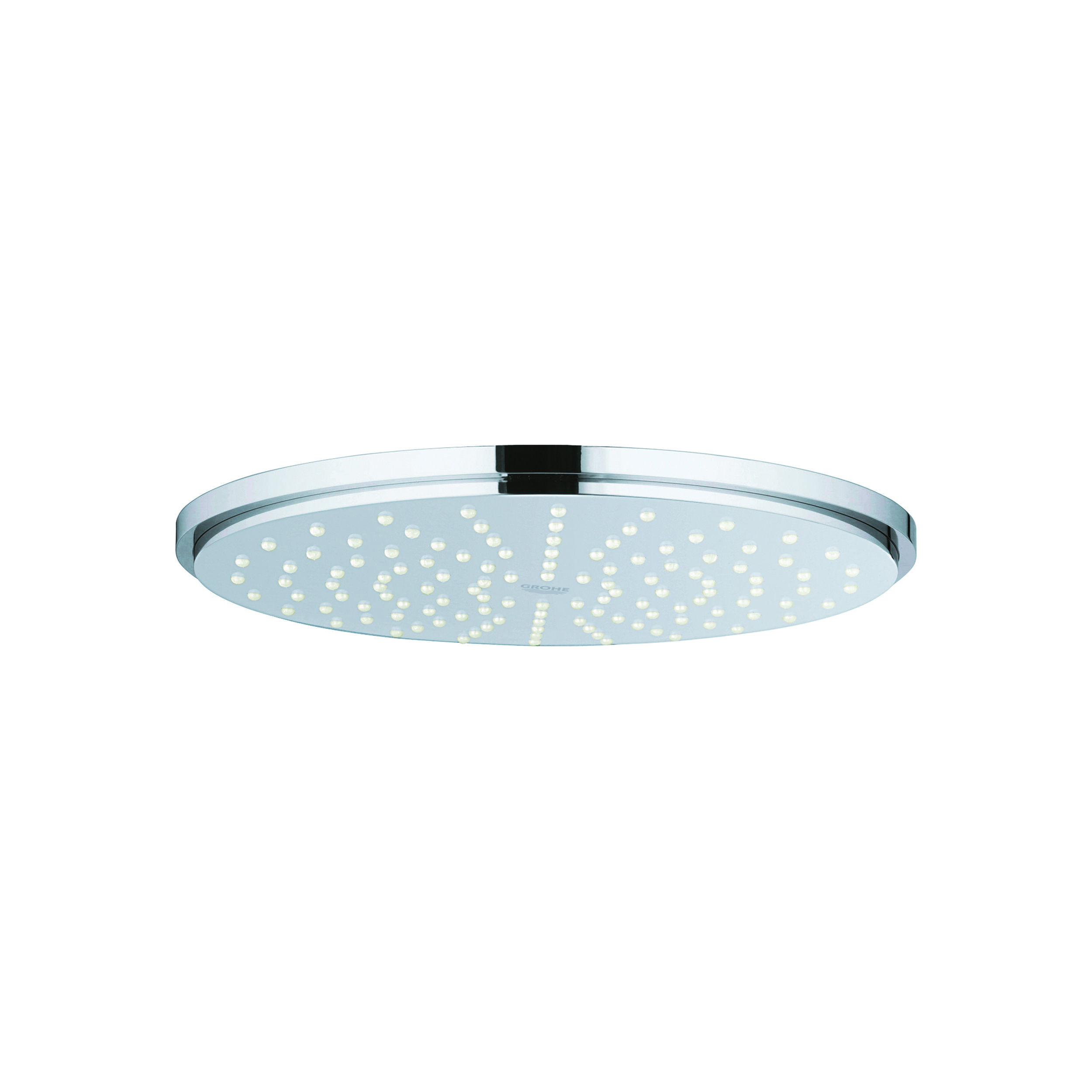 GROHE 27814000 Rainshower® Cosmopolitan 210 Shower Head With Ball Joint, 2 gpm, 1 Spray, Wall Mount, 8-1/4 in Head, Import
