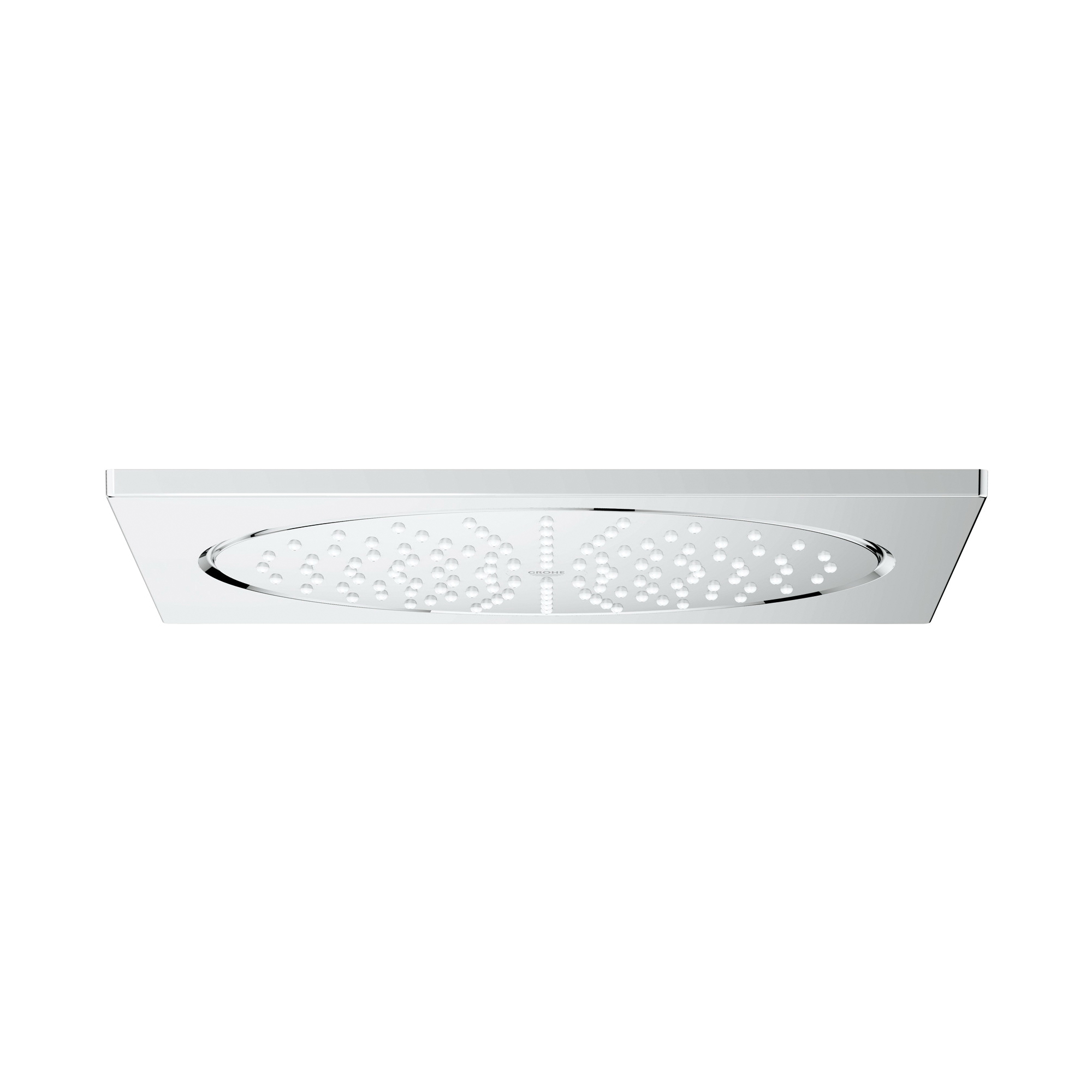 GROHE 27816000 F Series Rainshower® Ceiling Shower Head, 2 gpm, 1 Spray, Ceiling Mount, 10 in Head, Import