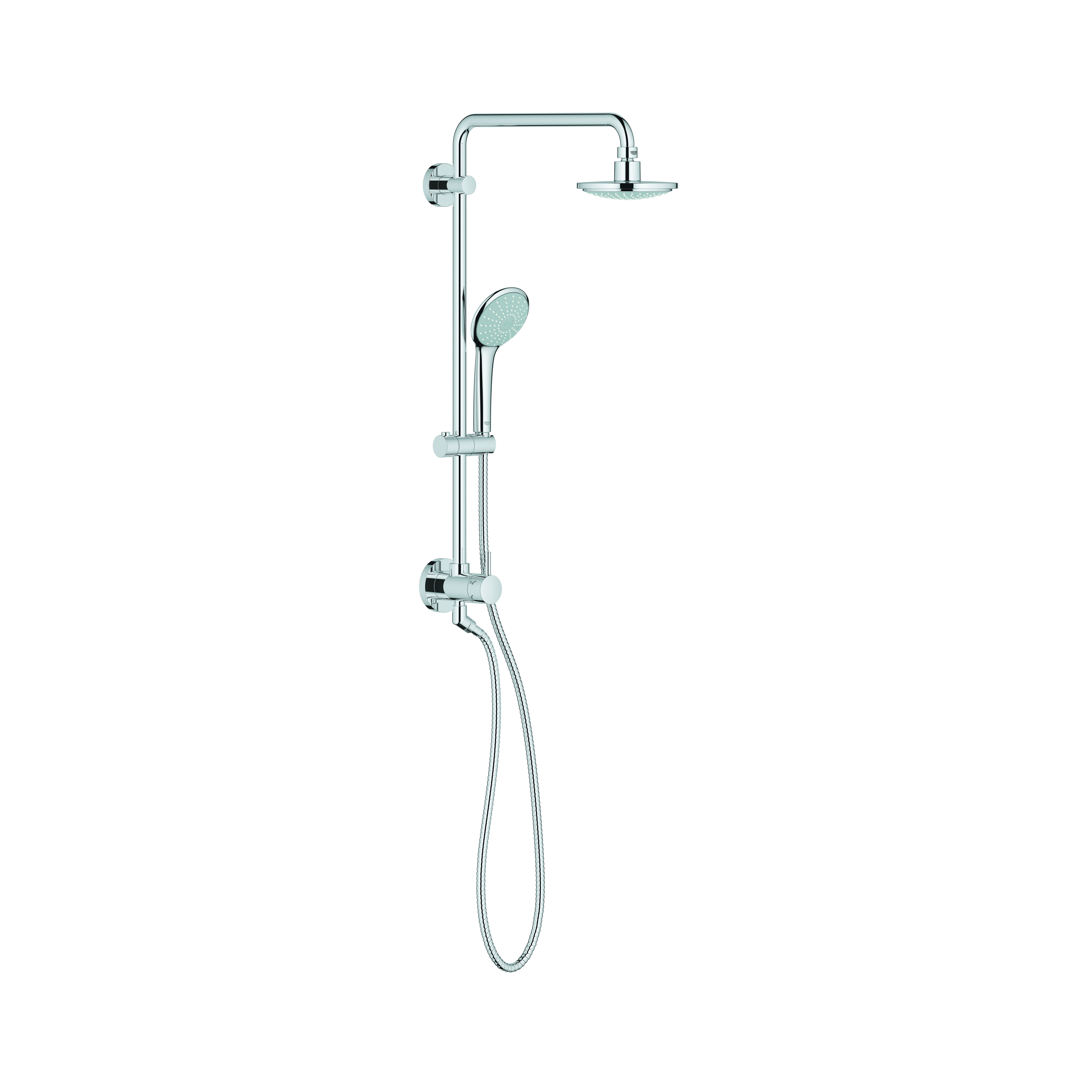 GROHE 27.867000 Retro-fit 160 Shower System, 2.5 gpm, Slide Bar: No, StarLight® Chrome, Import