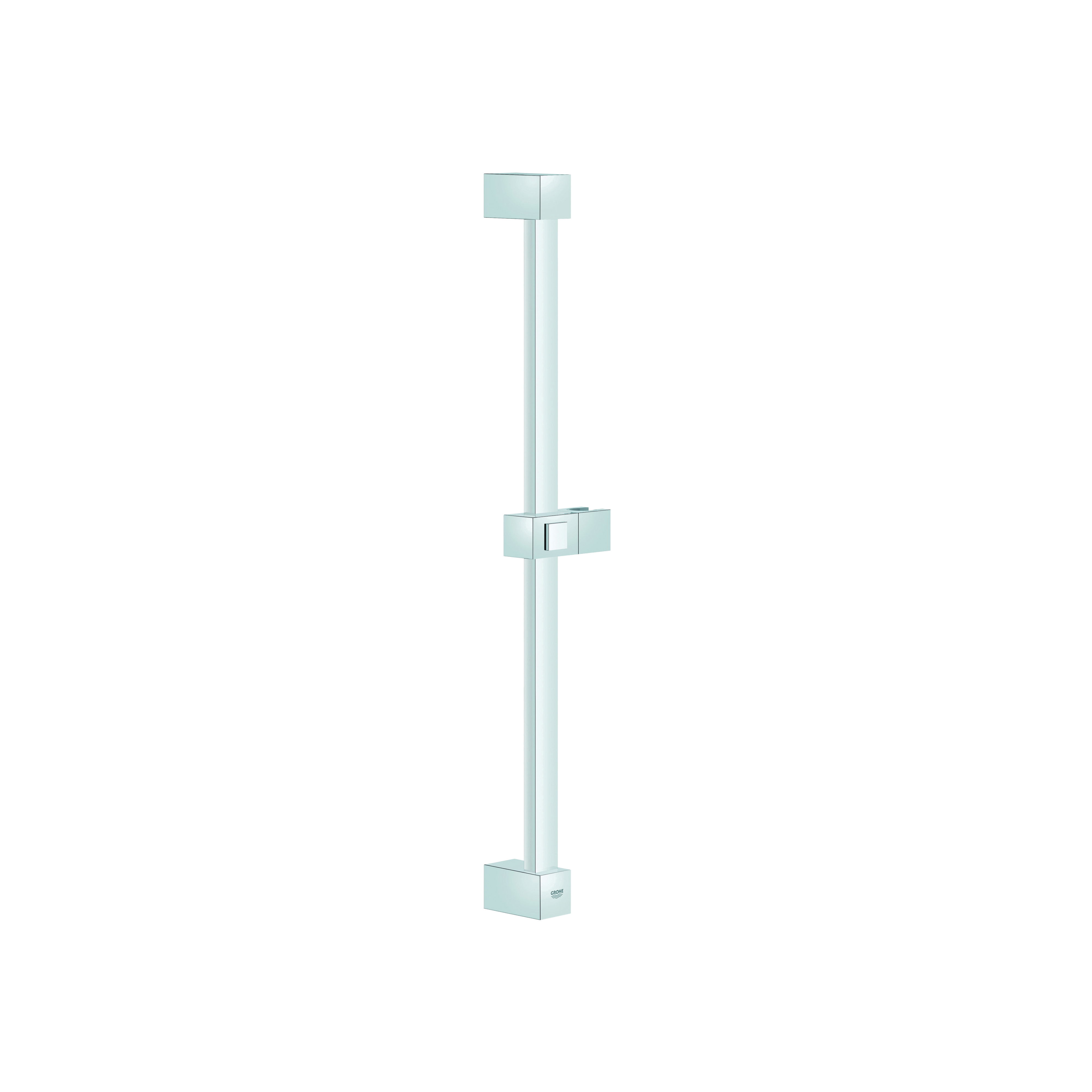 GROHE 27892000 Euphoria Cube Shower Bar, 24 in L Bar, 2-7/8 in OAD, Brass, Chrome Plated, Import