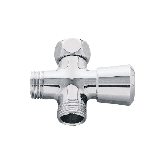 GROHE 28036000 3-Way Diverter, StarLight® Chrome Plated