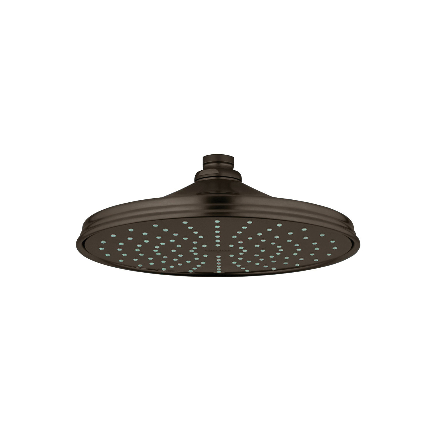 GROHE 28375ZB0 Rainshower® Rustic 210 Shower Head, 2.5 gpm, 1 Spray, Ceiling Mount, 8-3/8 in Dia Head, Import