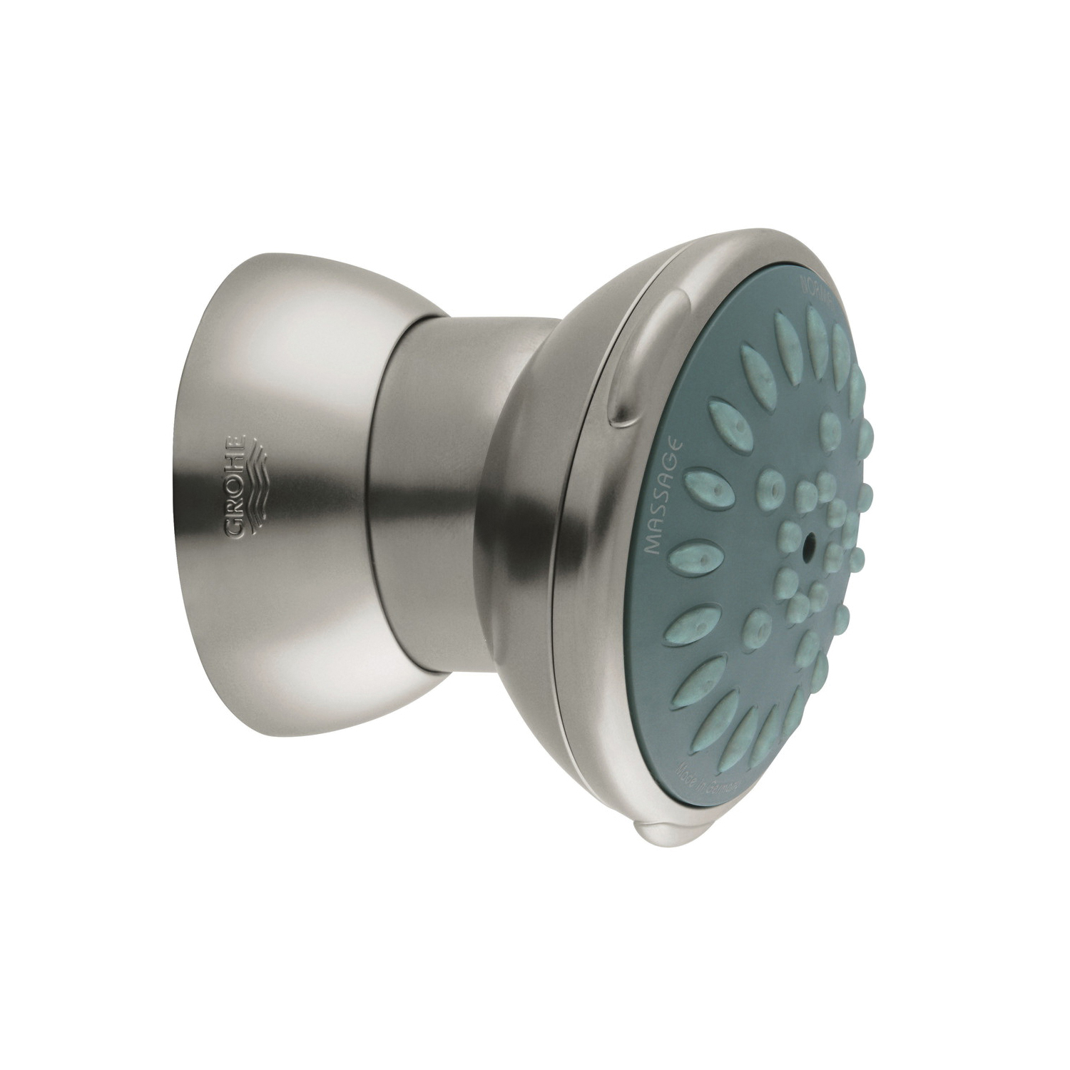 GROHE 28528EN0 Movario 70 Side Shower, (2) Normal/Massage Spray, 2.5 gpm Maximum, Round Head, Wall Mount, Import