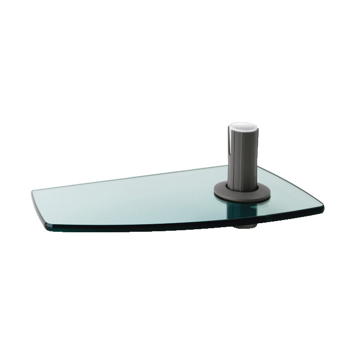 GROHE 28549000 Movario Shelf, 222 mm OAL x 113 mm OAD x 6 mm OAH, Tempered Glass, Import