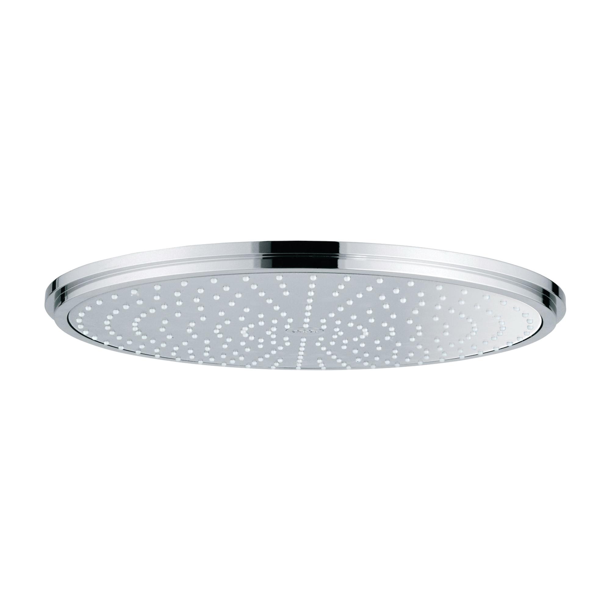 GROHE 28783000 Rainshower® Cosmopolitan 400 Shower Head, 2.5 gpm, 1 Spray, Wall Mount, 4 in Dia Head, Import
