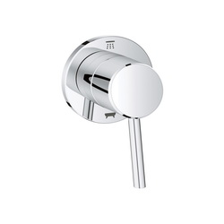 GROHE 29104001 Concetto 3-Way Diverter Trim, StarLight® Chrome Plated
