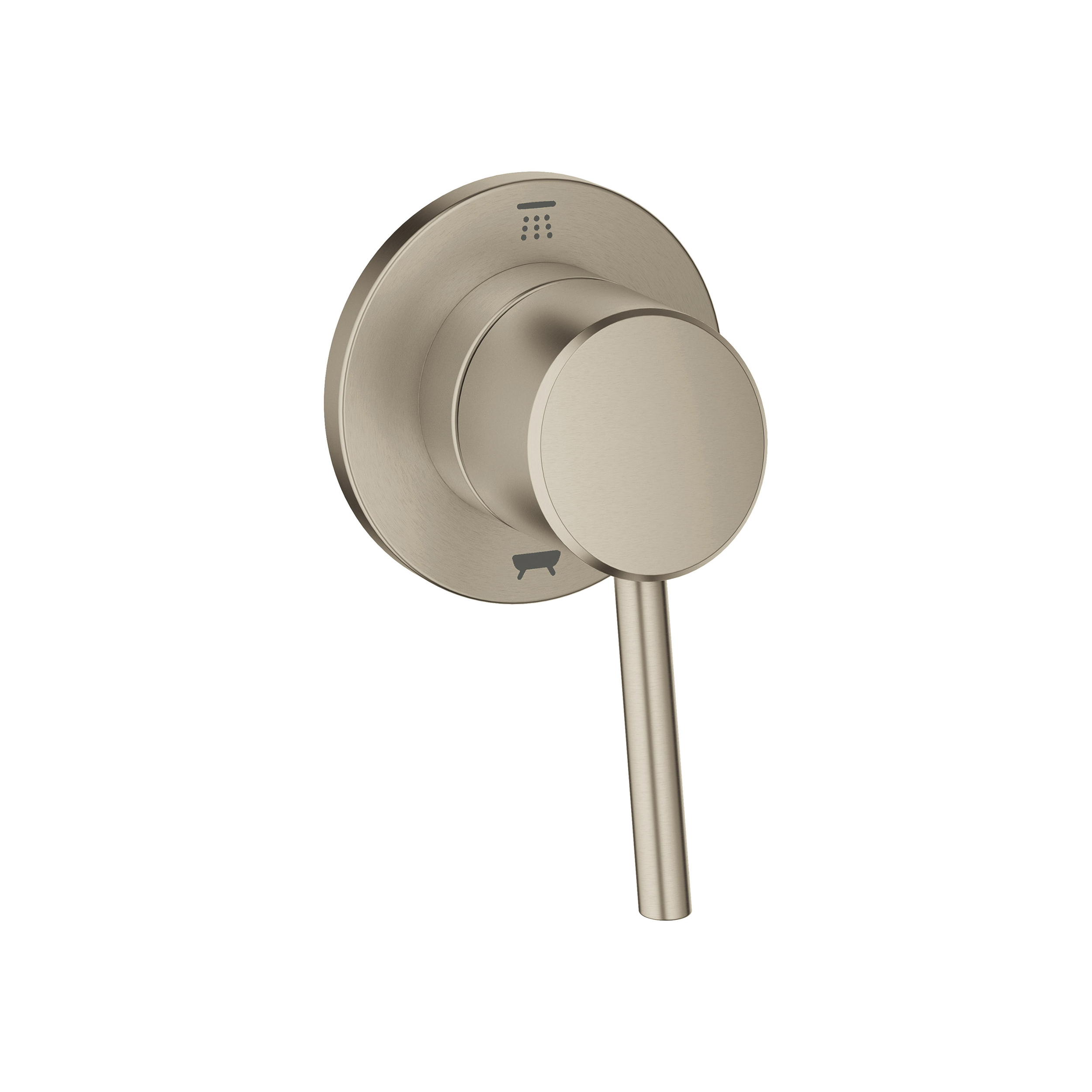 GROHE 29106EN1 Concetto 3-Way Diverter Trim, StarLight® Brushed Nickel