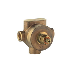 GROHE 29.712000 3-Port Diverter Rough-In Valve, 1/2 in MNPT Inlet x 1/2 in MNPT Outlet, 2 Ways, 45 psi, 18.5 gpm, Import