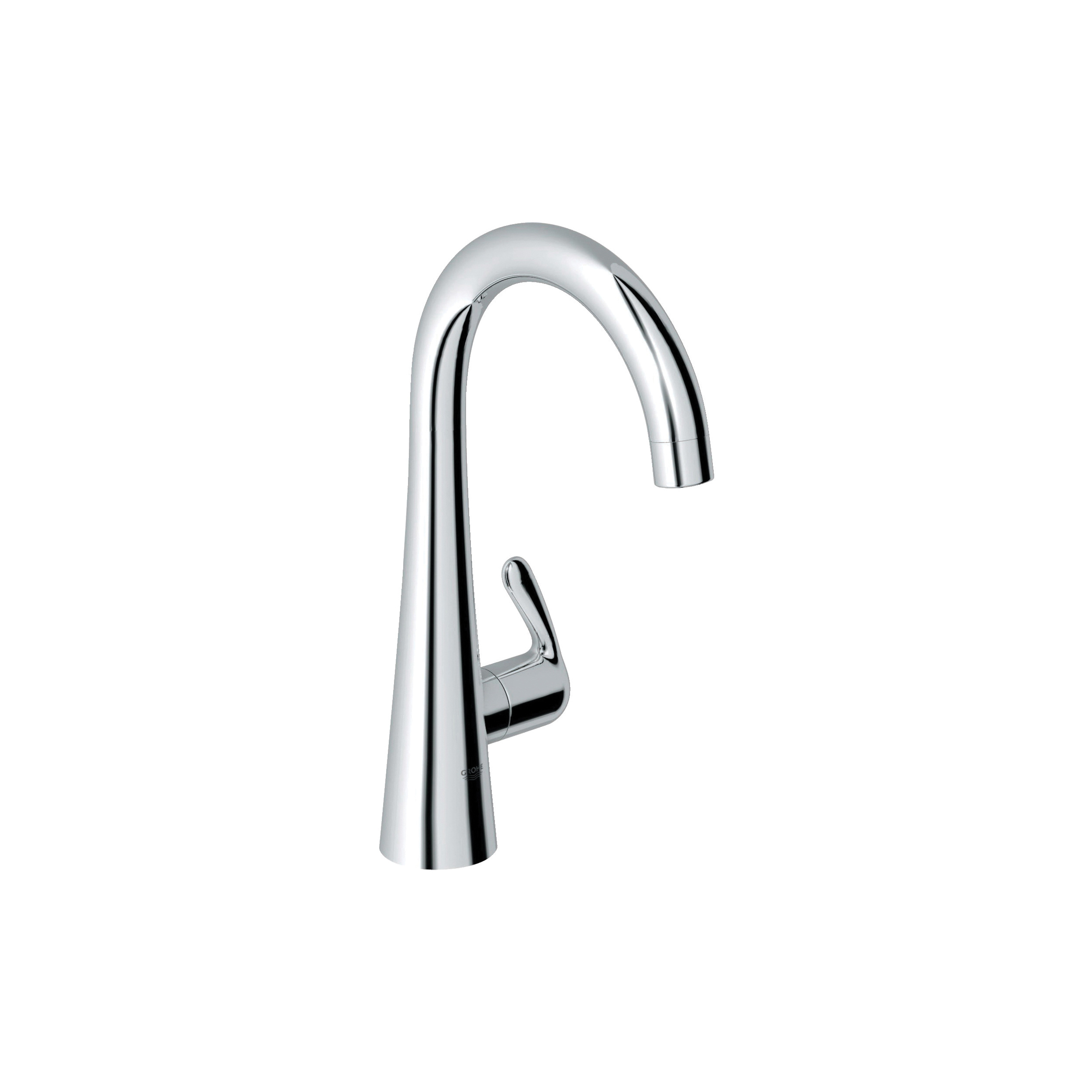 GROHE 30026000 Zedra Ladylux™ Pillar Tap Water Faucet, 1.75 gpm, 1 Handle, StarLight® Chrome, Import, Residential