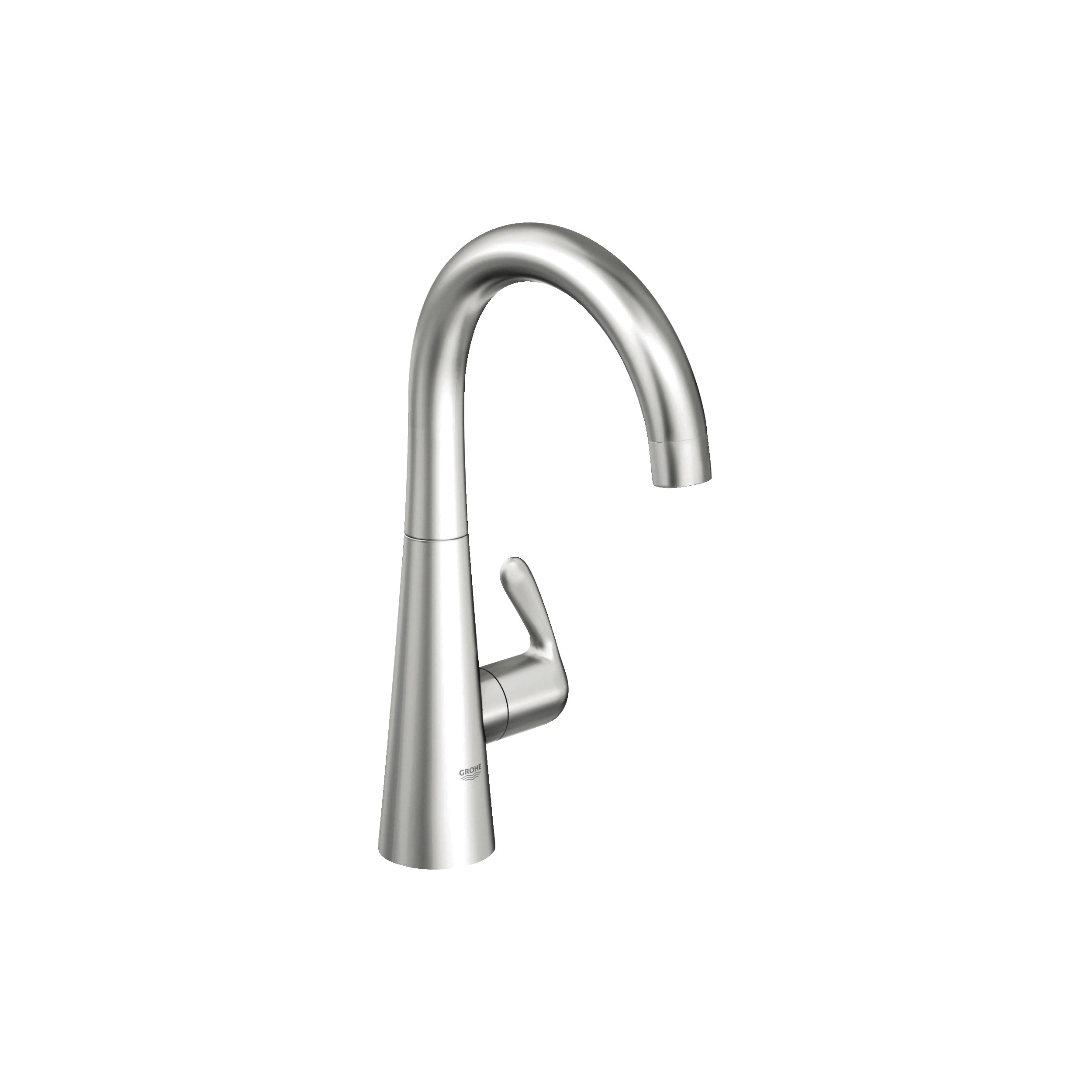 GROHE 30026SD0 Zedra Pilar Tap, 1.75 gpm, Brushed Stainless Steel, 1 Handles, Import