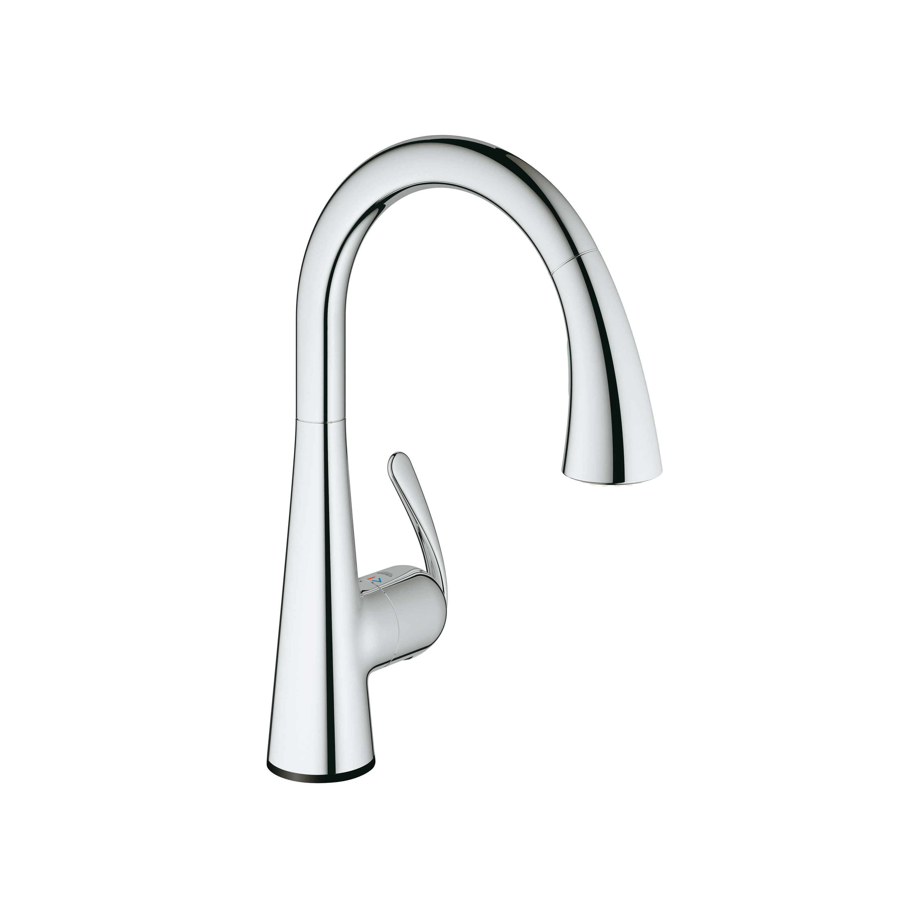 GROHE 30205001 Ladylux™ Kitchen Faucet With Dual Spray, 1.75 gpm, 1 Faucet Hole, StarLight® Chrome, 1 Handle, Import, Residential