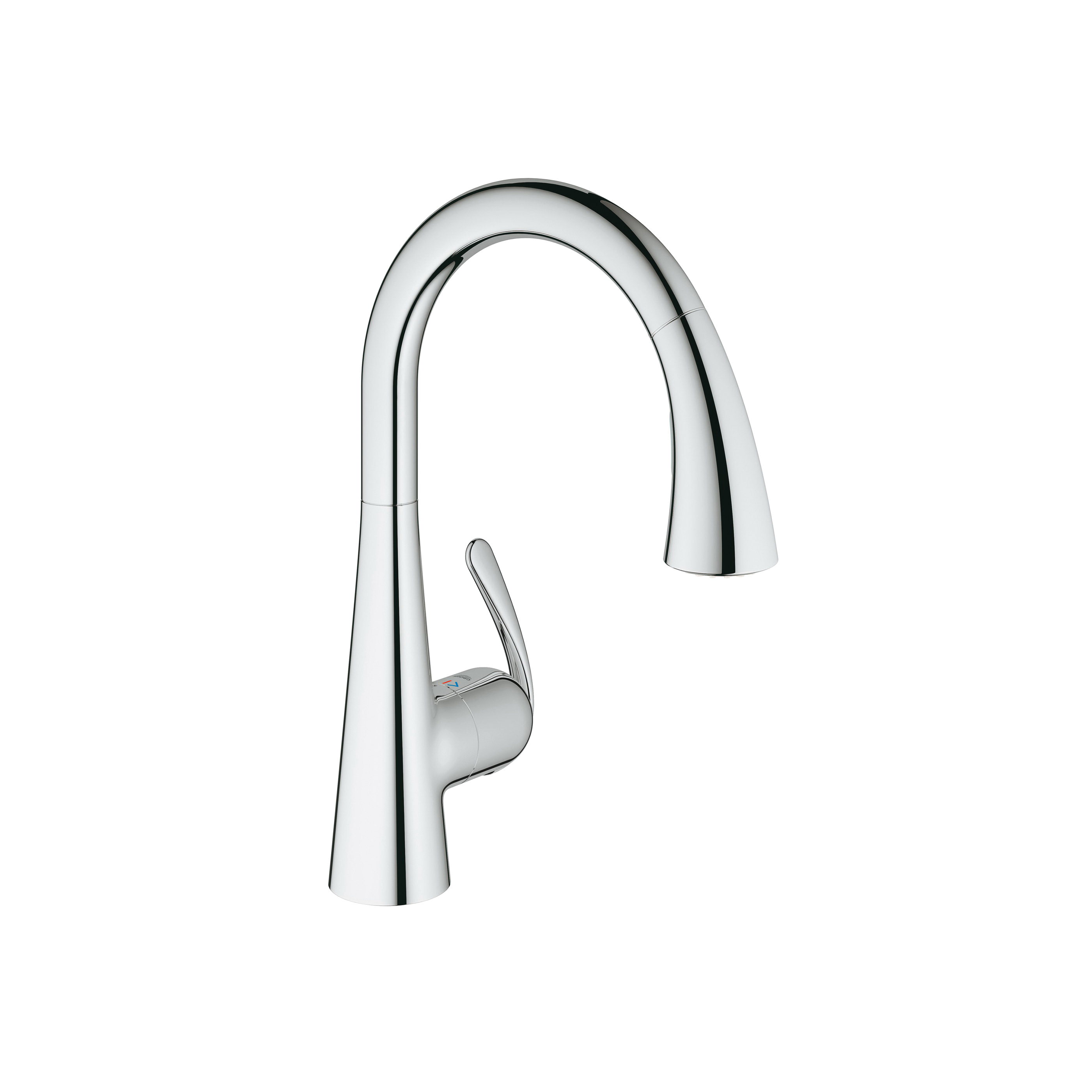 GROHE 30313000 Ladylux™ Cafe Foot Control Kitchen Faucet With Dual Spray, 1.75 gpm, 1 Faucet Hole, StarLight® Chrome, 1 Handle, Import, Residential