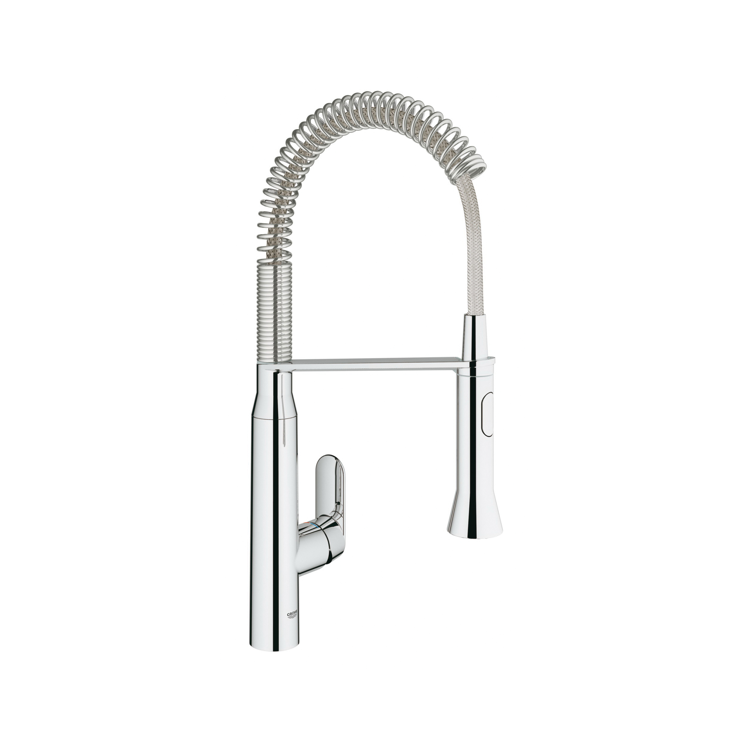 GROHE 30314000 K7 Semi-Pro Foot Control Kitchen Faucet, 1.75 gpm, 1 Faucet Hole, StarLight® Chrome, 1 Handle, Import, Residential