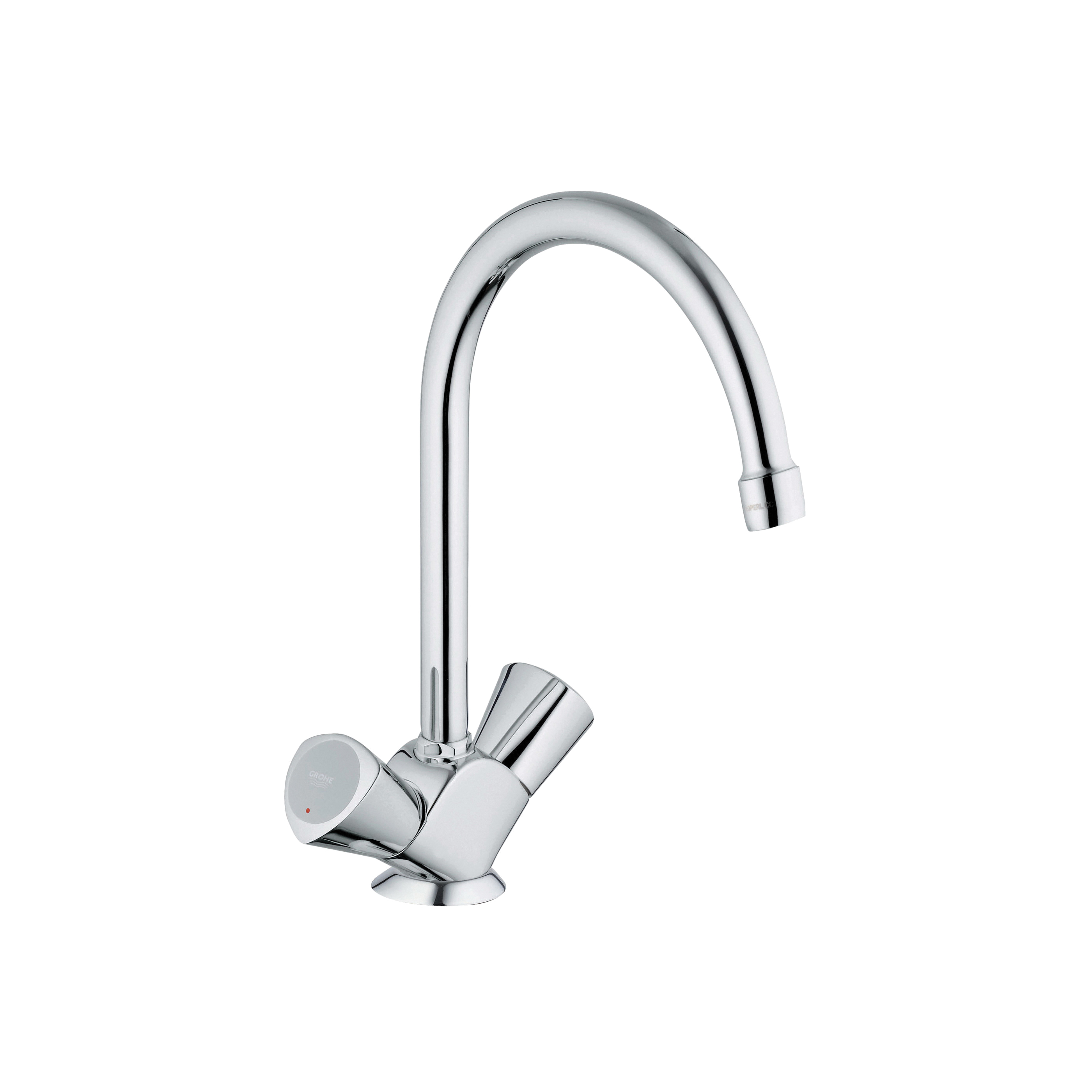 GROHE 31074001 Costa S Sink Mixer, 1.75 gpm, 1 Handle, Chrome Plated, Import