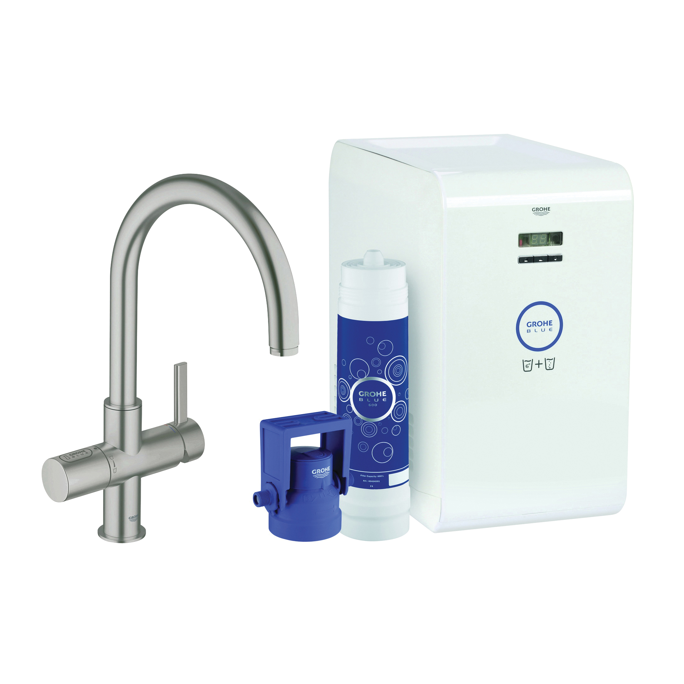 Consolidated Supply Co. | GROHE 31251DC1 GROHE Blue Sparkling Faucet ...
