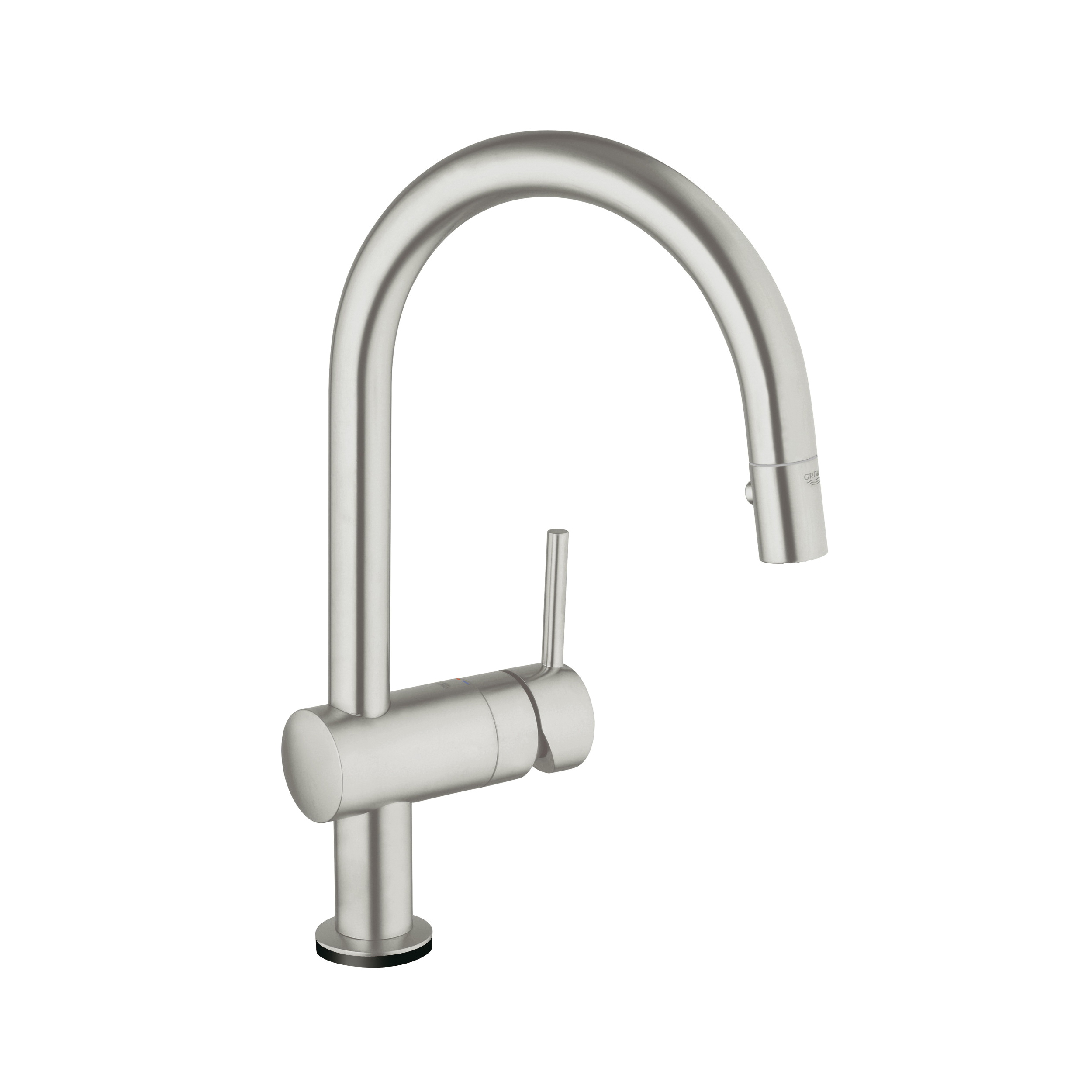 GROHE 31359DC1 Minta Kitchen Faucet With Dual Spray, 1.75 gpm, 1 Faucet Hole, SuperSteel, 1 Handle, Import, Residential