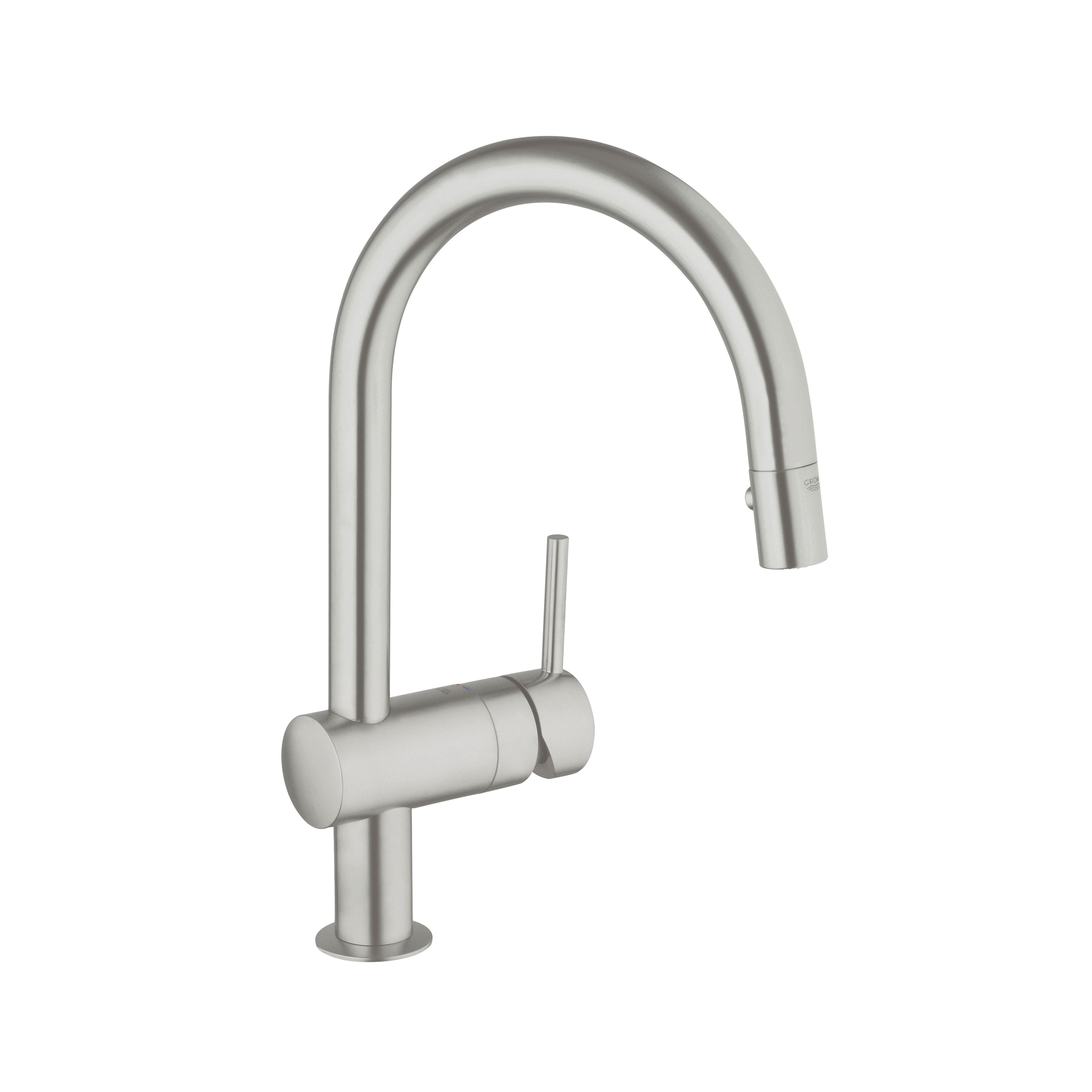 GROHE 31378DC0 Minta Sink Mixer, 1.75 gpm, 1 Handle, SuperSteel, Import