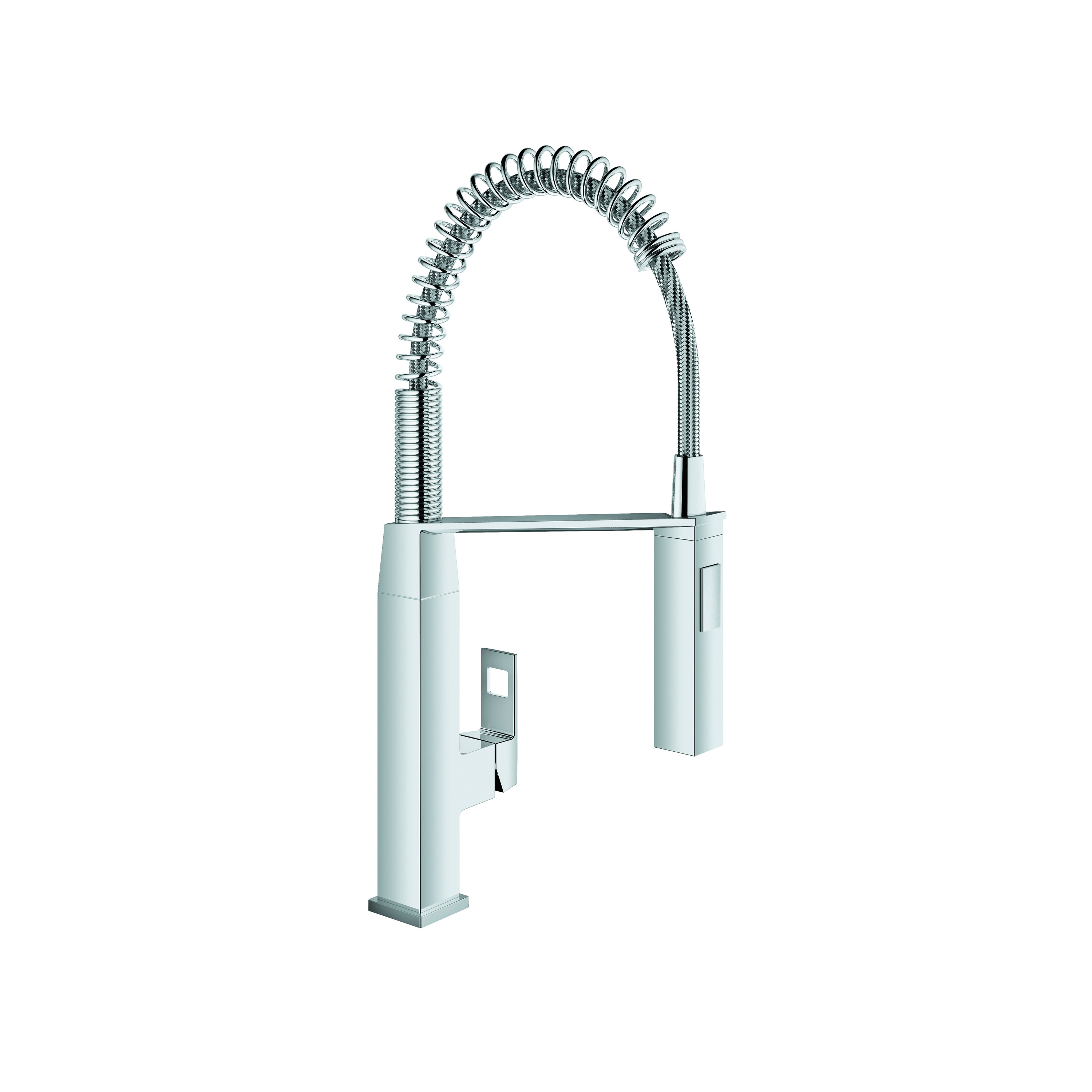 GROHE 31401000 Eurocube® Sink Mixer, 1.75 gpm, 1 Handle, Chrome Plated, Import