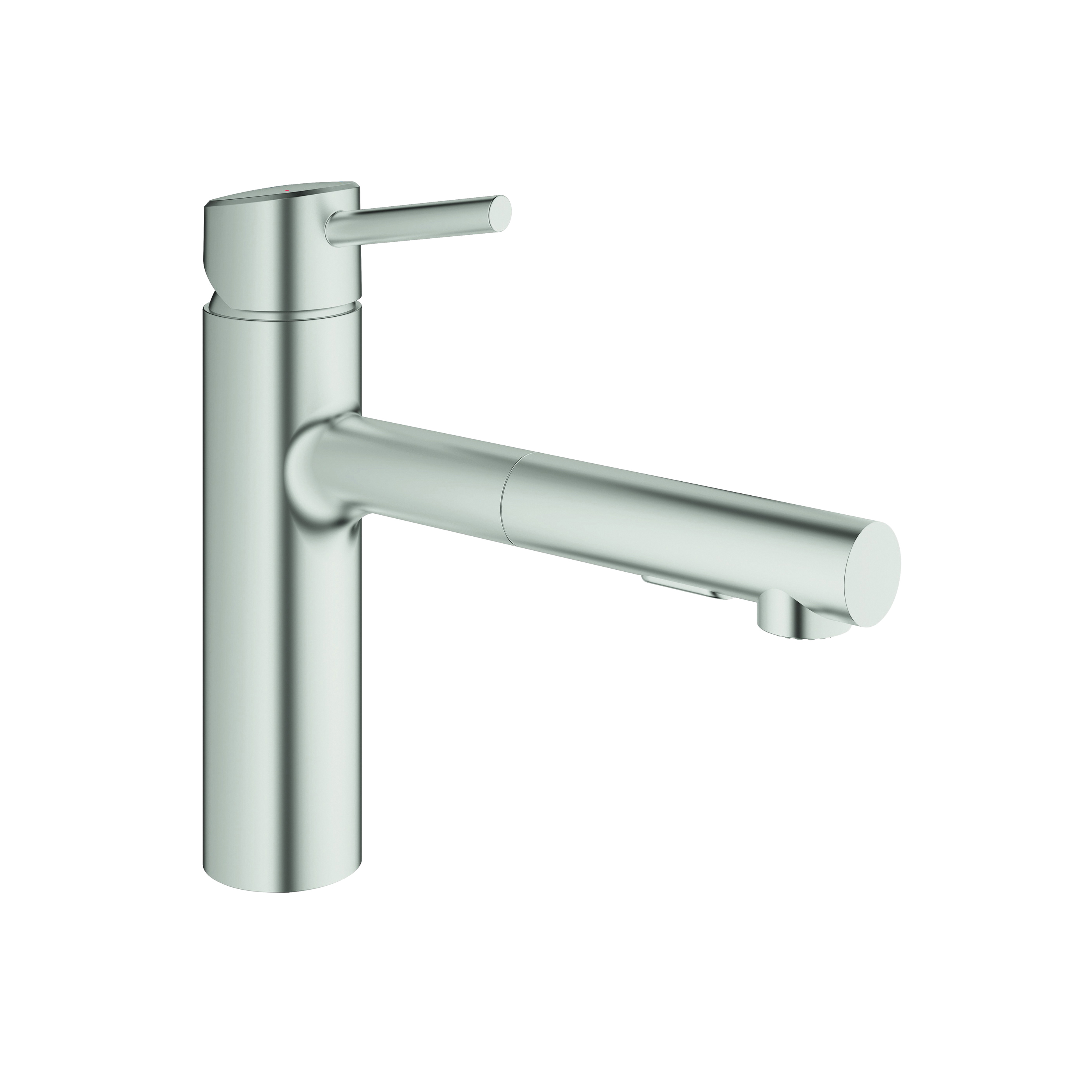 GROHE 31453DC1 Concetto Sink Mixer, 1.5 gpm, 1 Handle, SuperSteel, Import