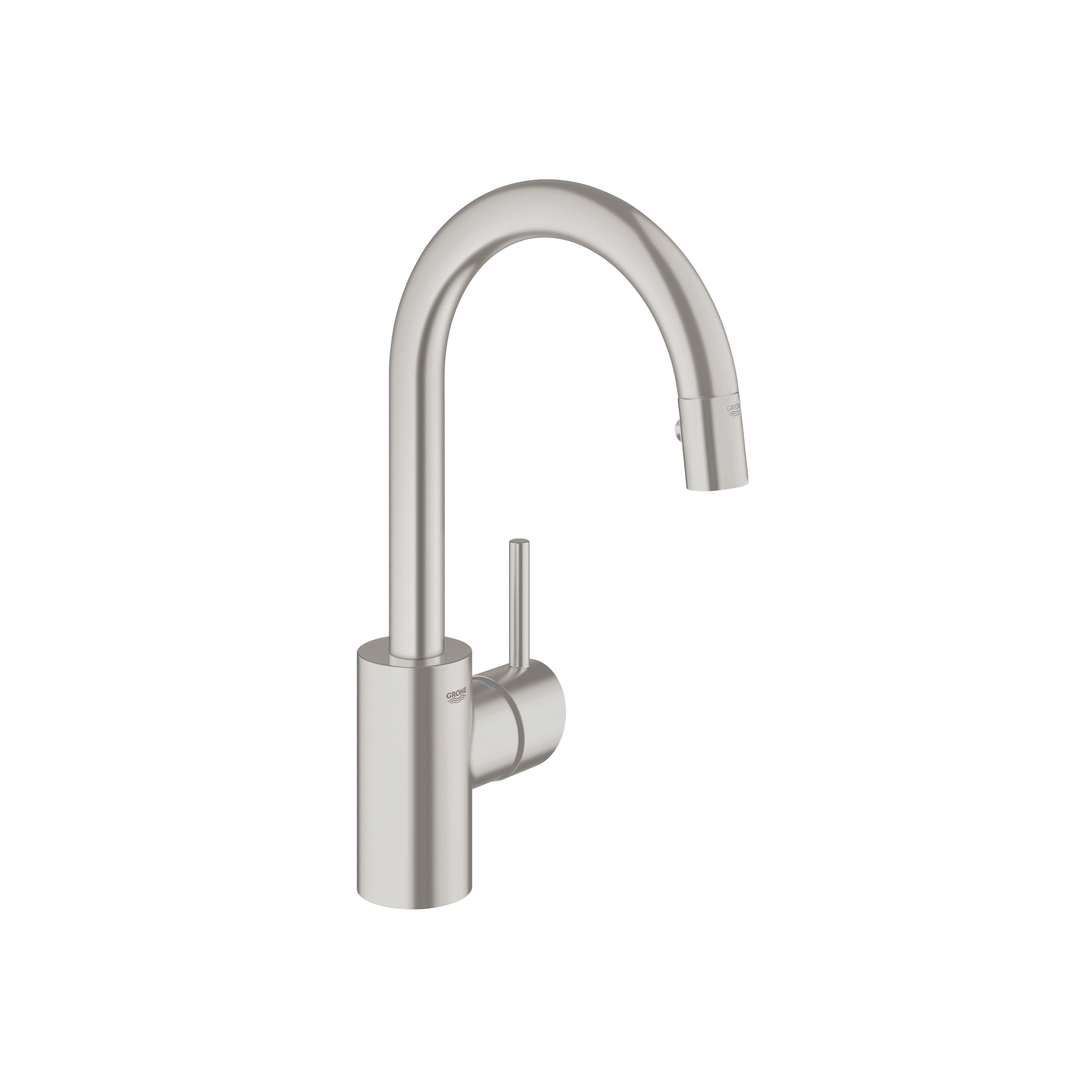 GROHE 31479000 Concetto Kitchen Faucet With Dual Spray, 1.75 gpm, 1 Faucet Hole, StarLight® Chrome, 1 Handle, Import, Residential