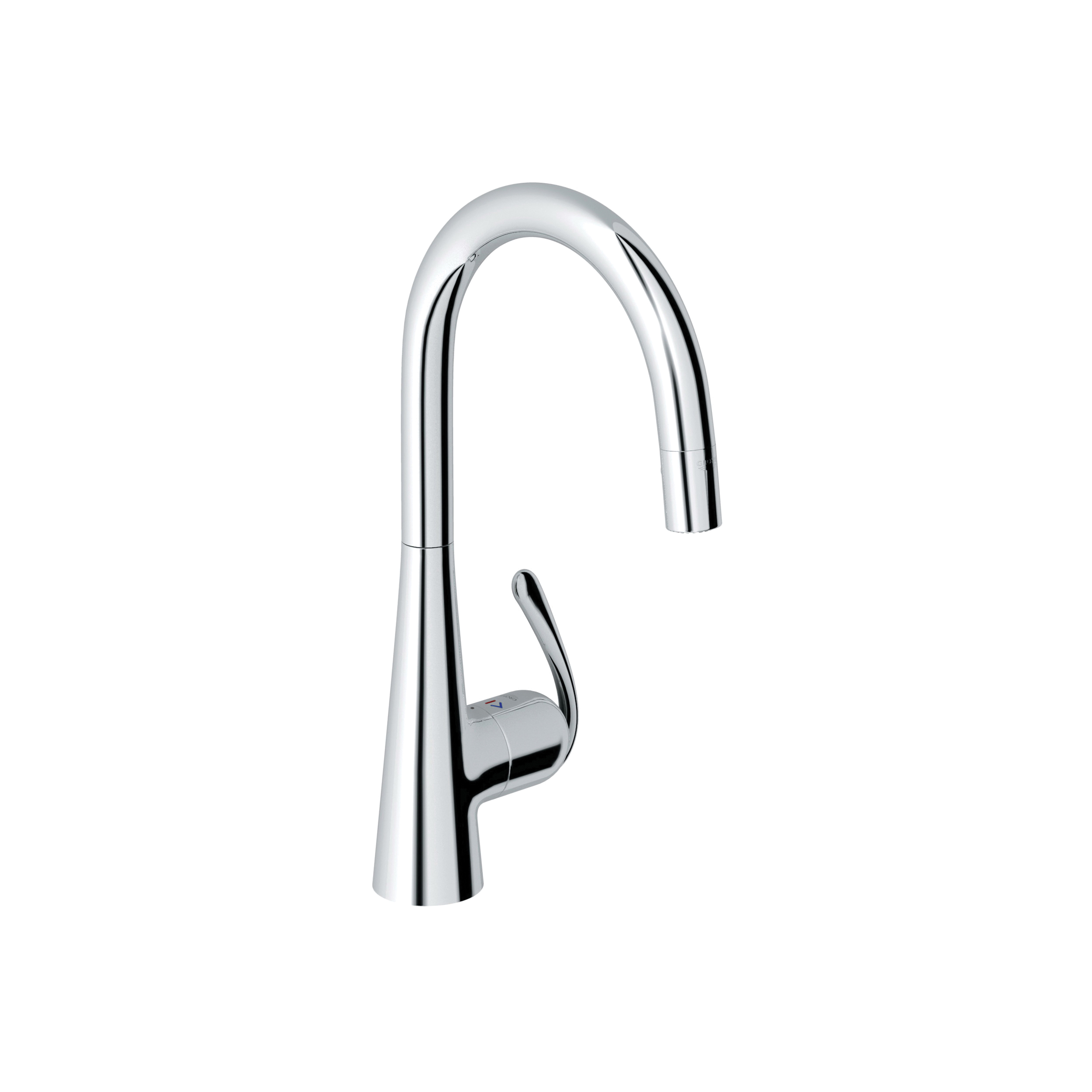 GROHE 32226000 Ladylux3 Pro Sink Mixer, 1.75 gpm, 1 Handle, Chrome Plated, Import