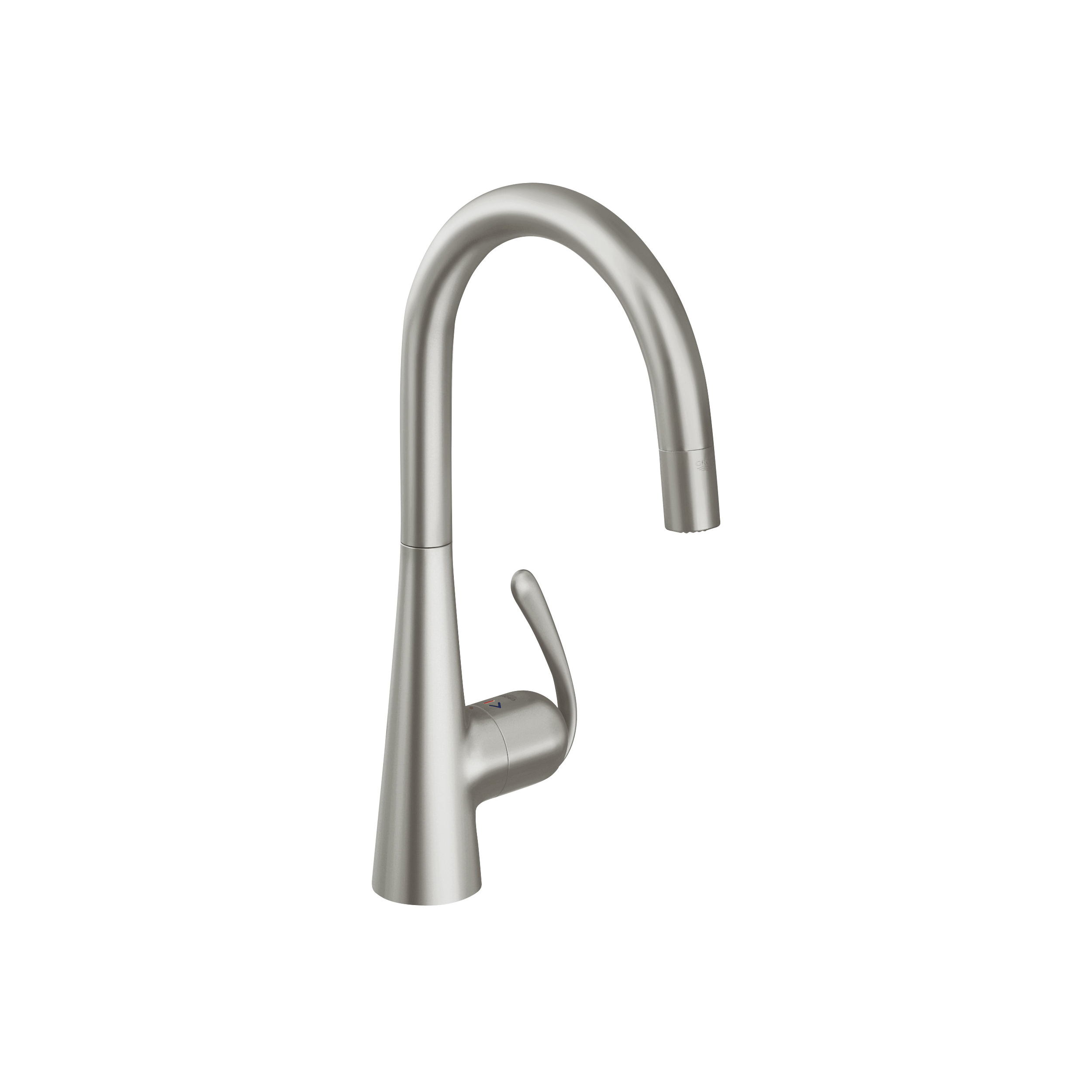 GROHE 32226DC0 Ladylux3 Pro Sink Mixer, 1.75 gpm, 1 Handle, SuperSteel, Import