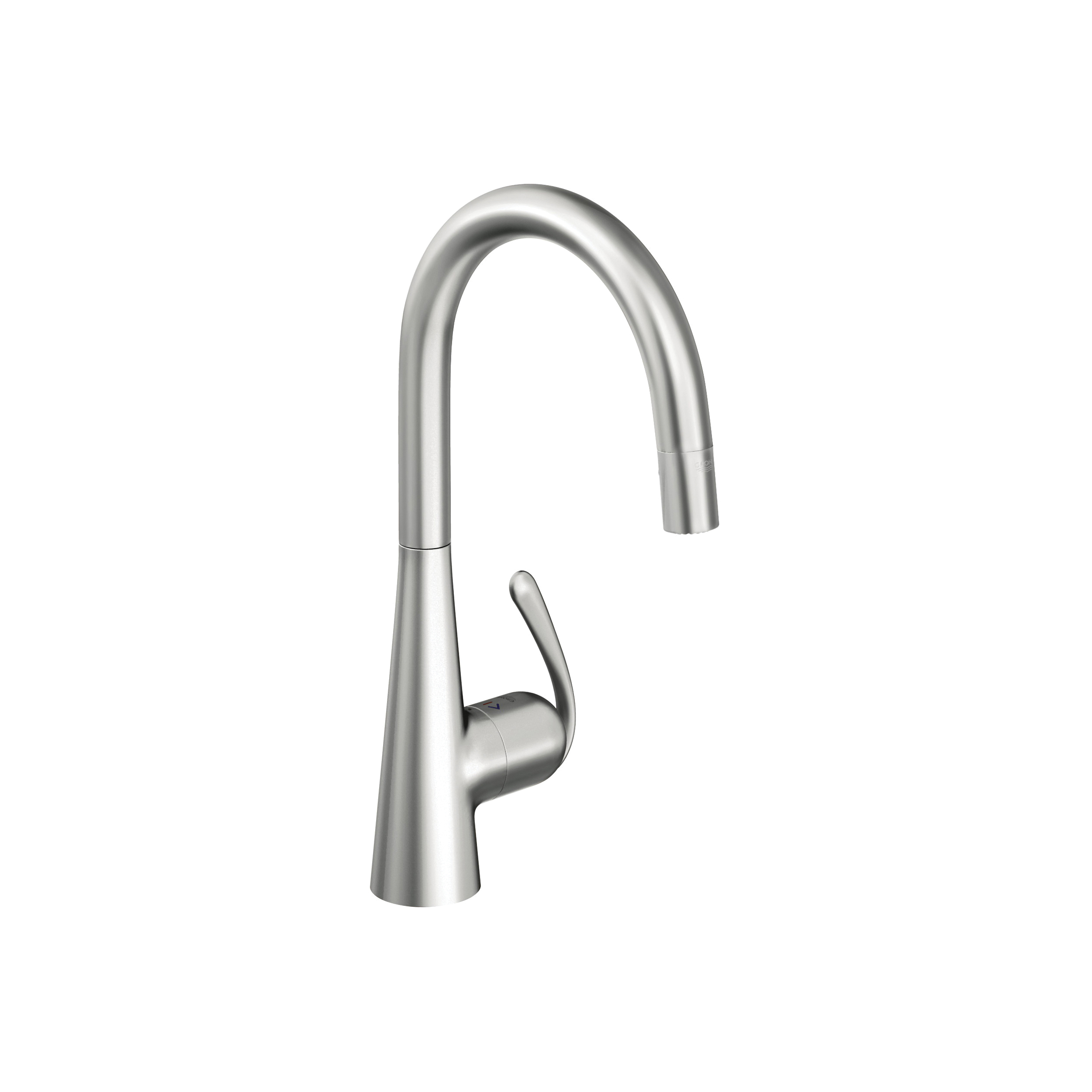 GROHE 32226SD0 Ladylux3 Pro Sink Mixer, 1.75 gpm, 1 Handle, Brushed Stainless Steel, Import