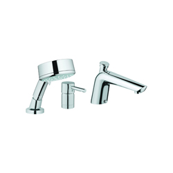 GROHE 32232000 Essence™ Roman Tub Filler, 2 gpm, StarLight® Chrome Plated, 1 Handles, Hand Shower Yes/No: Yes, Import