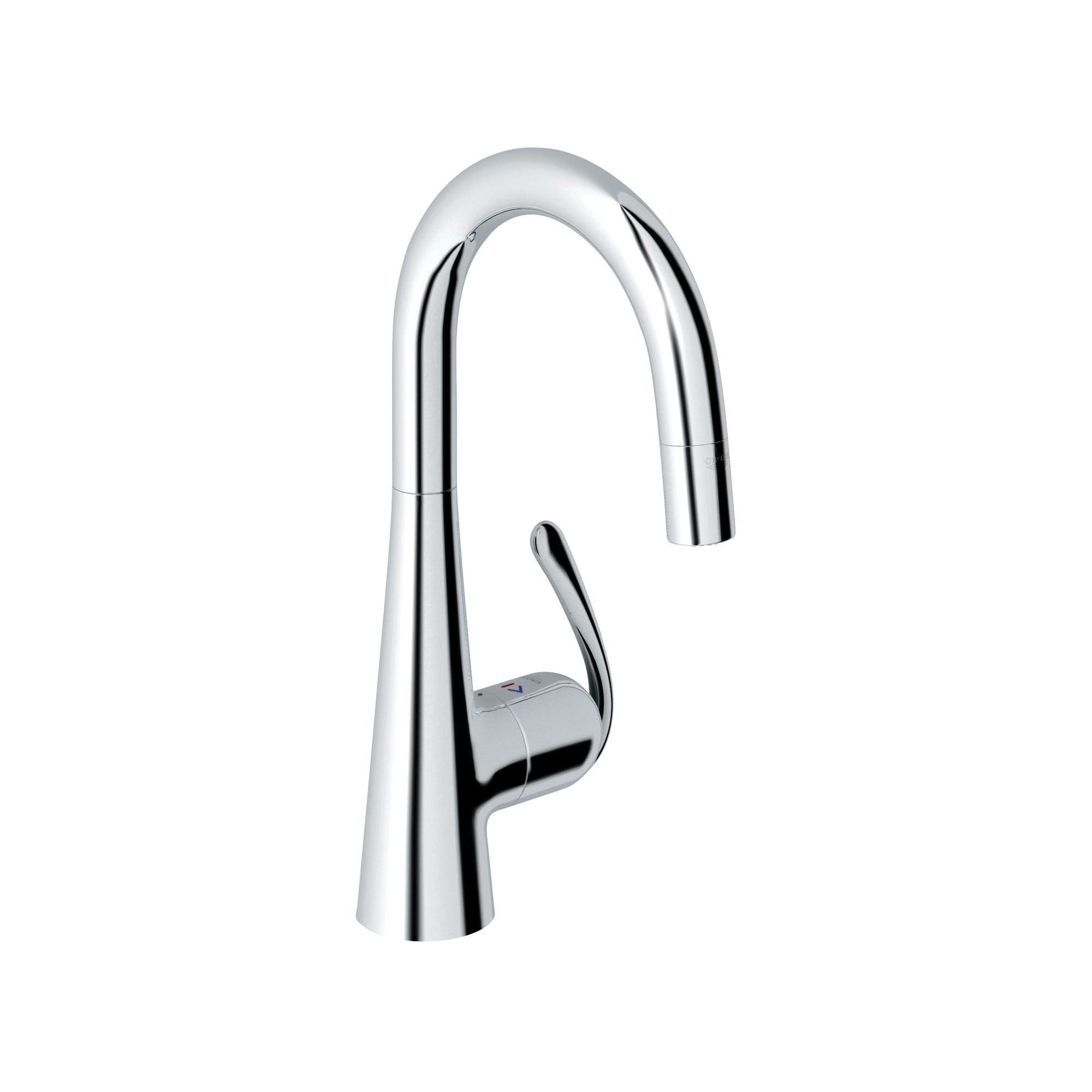 GROHE 32283000 Ladylux3 Pro Sink Mixer, 1.75 gpm, 1 Handle, Chrome Plated, Import