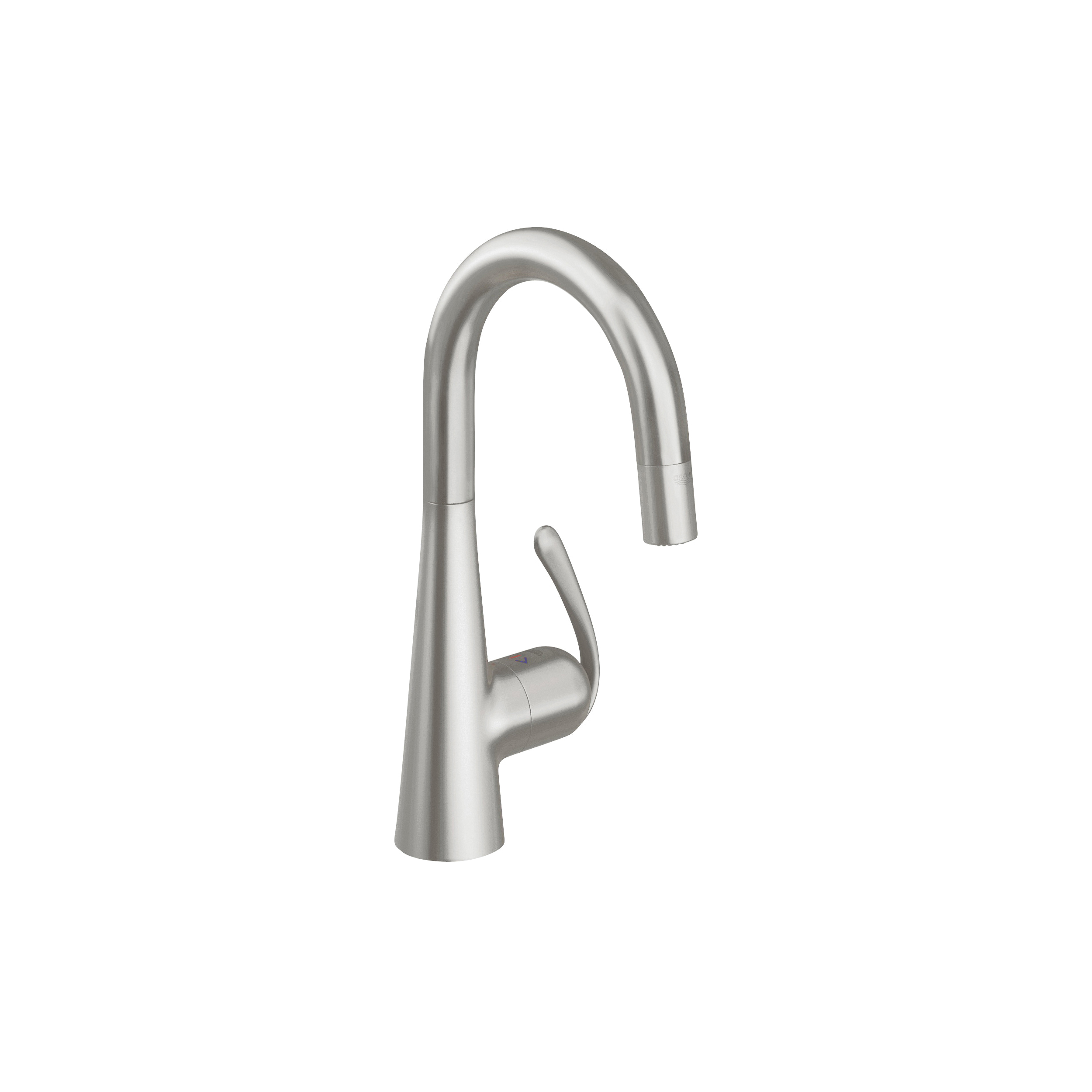GROHE 32283DC0 Ladylux3 Pro Sink Mixer, 1.75 gpm, 1 Handle, SuperSteel, Import