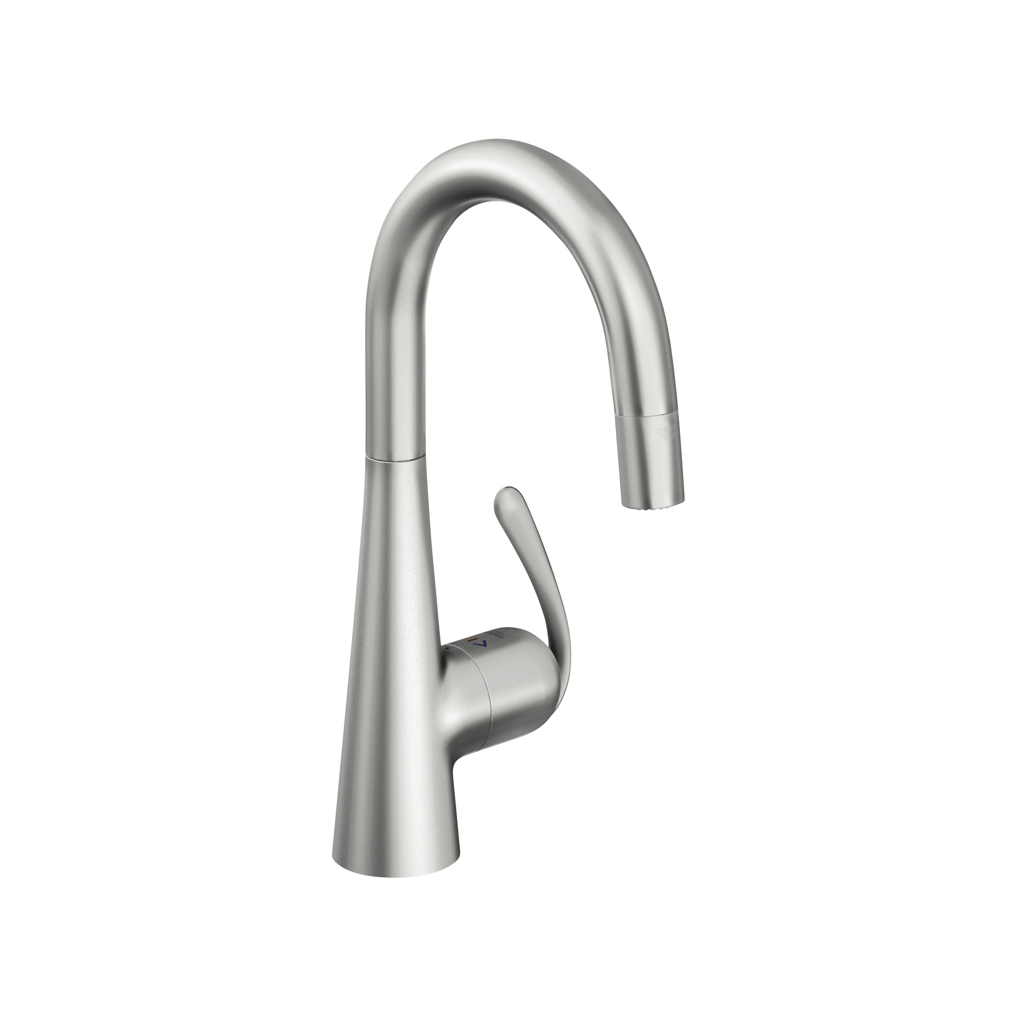 GROHE 32283SD0 Ladylux™ Kitchen Prep Sink Faucet, 1.75 gpm, 1 Faucet Hole, RealSteel®, 1 Handle, Import, Residential