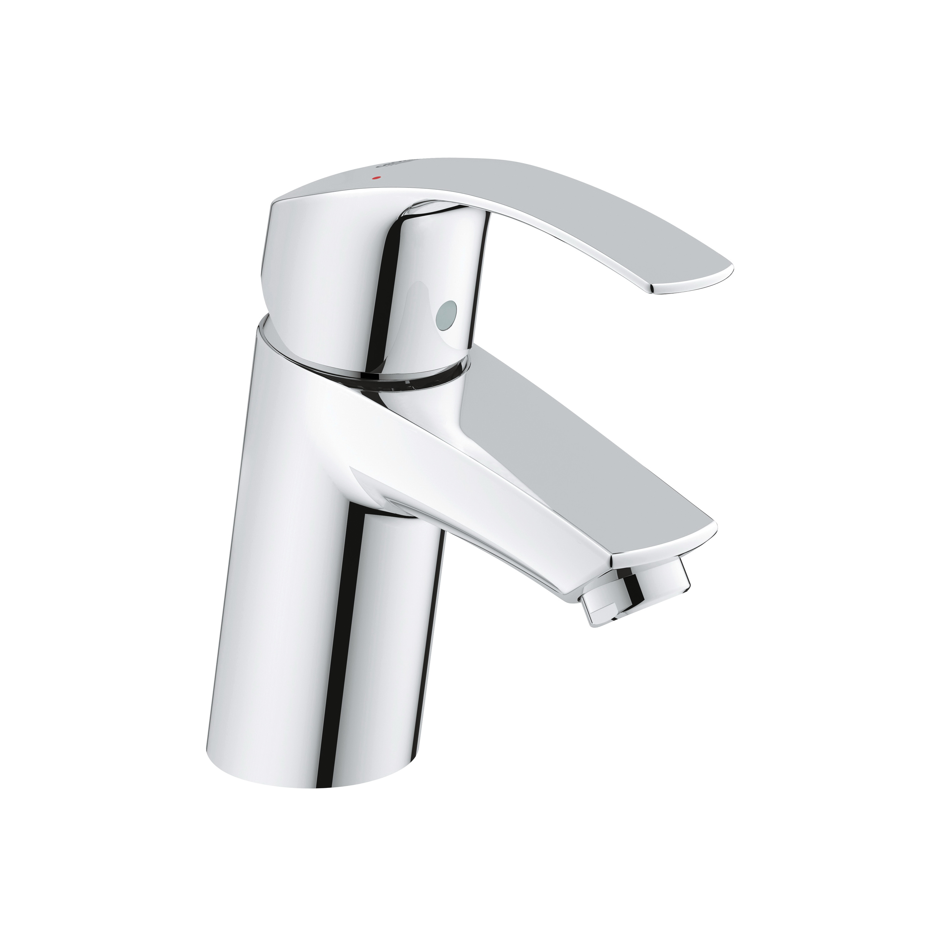 GROHE 3264300A Eurosmart New Lavatory Faucet, 1.2 gpm, 2-3/8 in H Spout, 1 Handle, 1 Faucet Hole, StarLight® Chrome, Import