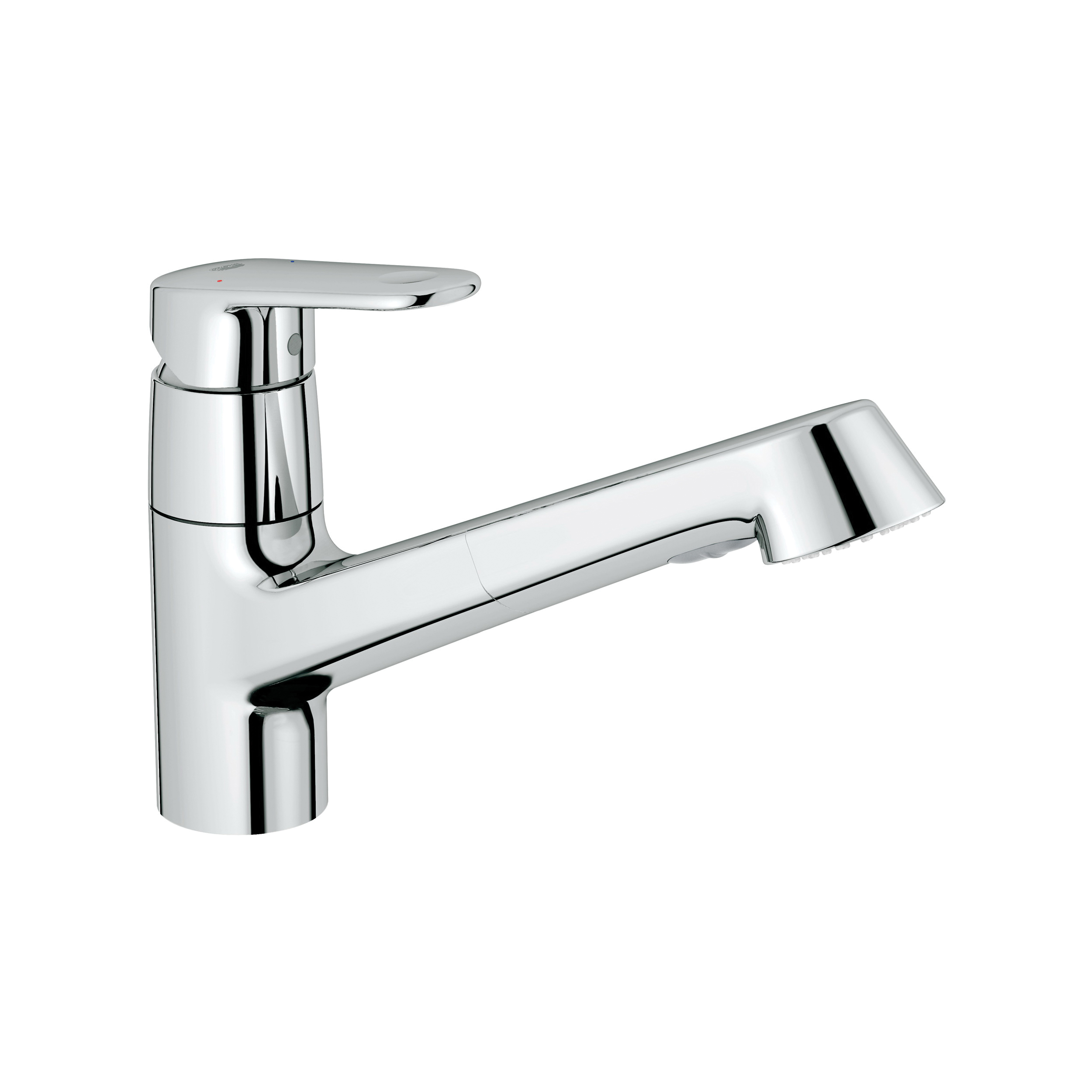 GROHE 32946002 Europlus Sink Mixer, 1.75 gpm, 1 Faucet Hole, Chrome Plated, 1 Handle, Import