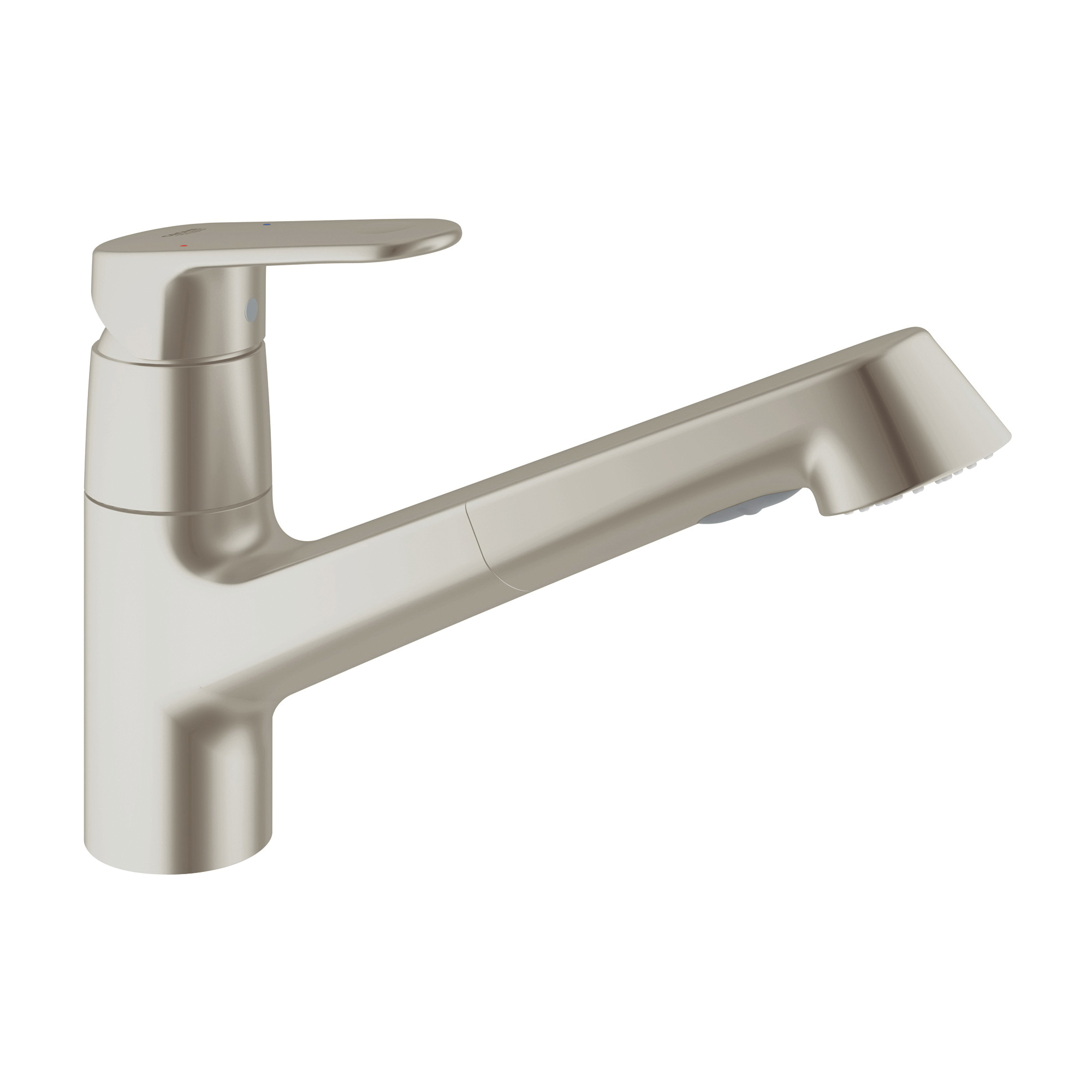 GROHE 32946DC2 Europlus Sink Mixer, 1.75 gpm, 1 Faucet Hole, SuperSteel, 1 Handle, Import