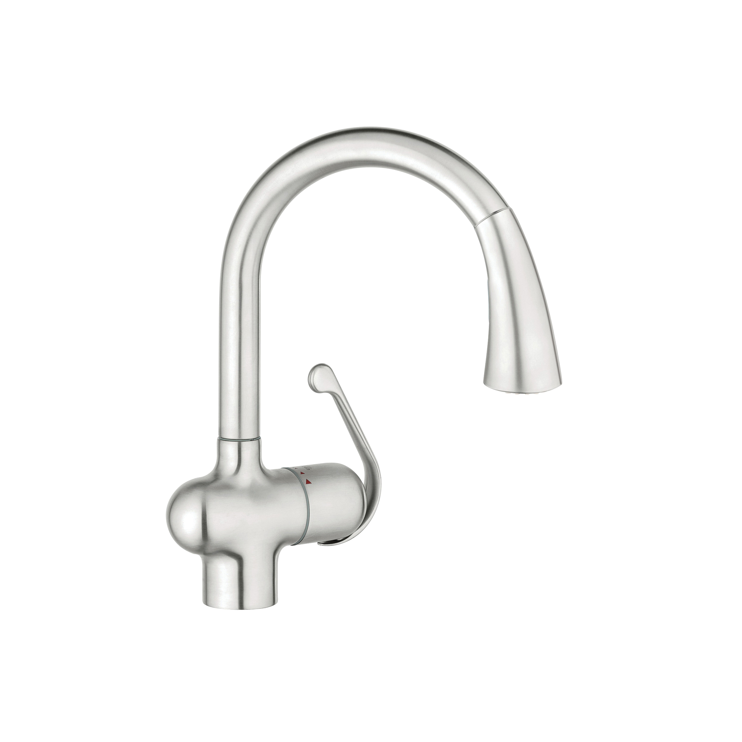 GROHE 33755SD1 Ladylux™ Sink Mixer, 1.75 gpm, 1 Faucet Hole, Brushed Stainless Steel, 1 Handle, Import