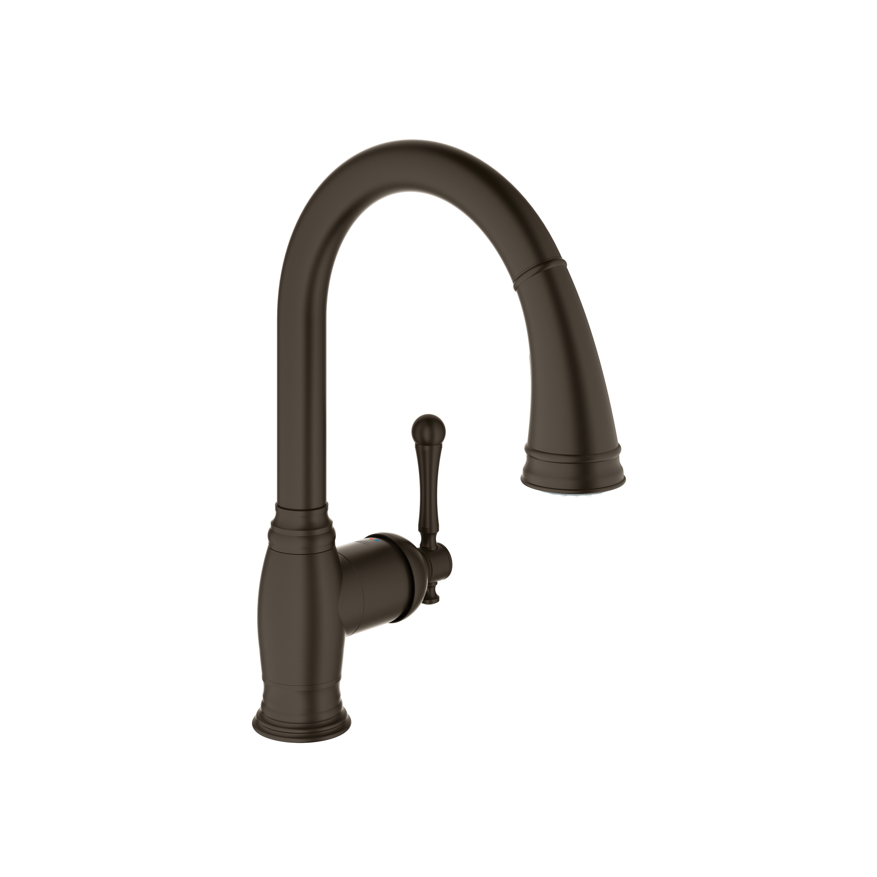 GROHE 33870ZB2 Bridgeford Kitchen Faucet With Dual Spray, 1.75 gpm, 1 Faucet Hole, Oil Rubbed Bronze, 1 Handle, Import, Residential