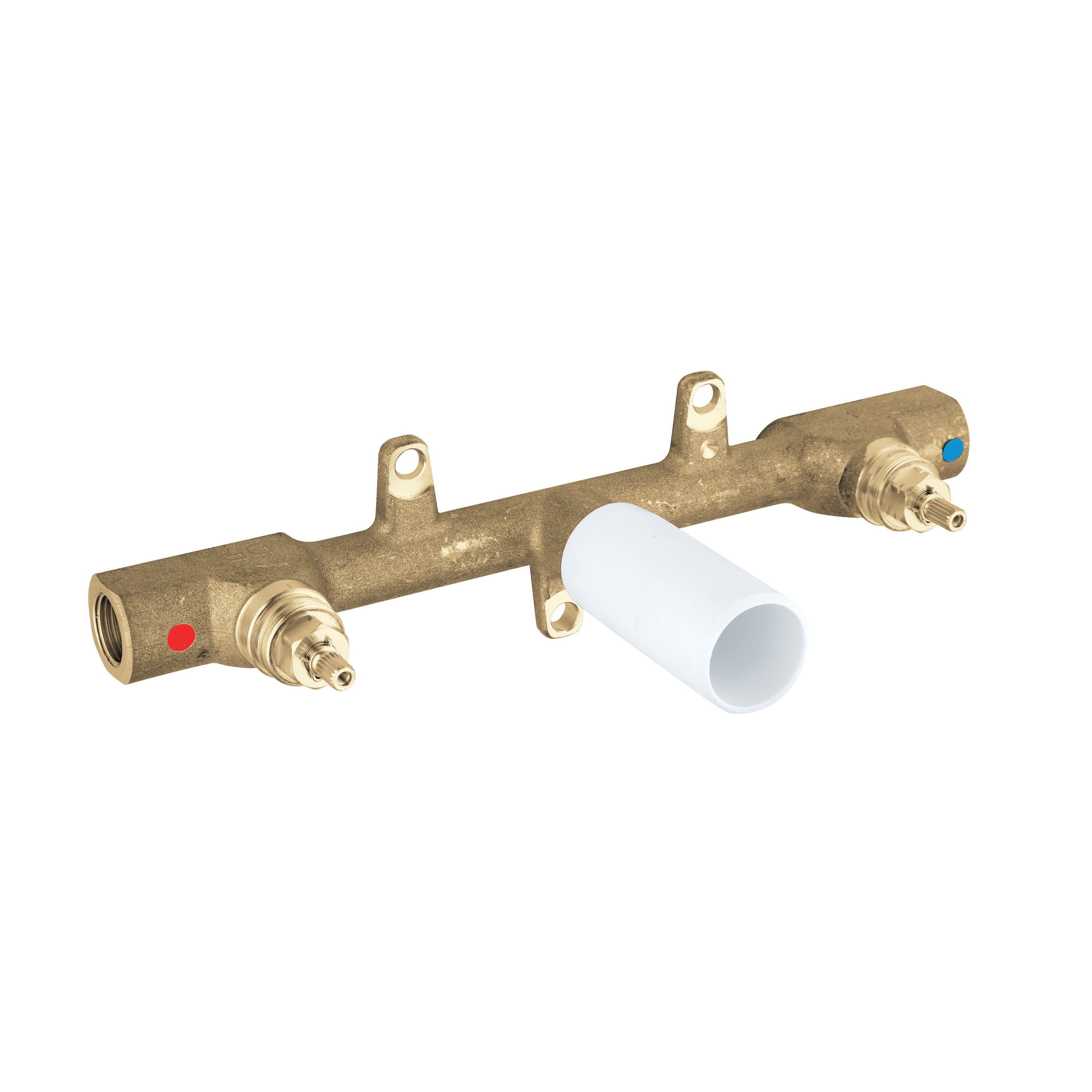 GROHE 33885000 Three-Hole Basin Mixer, 1/2 in, FNPT, Cast Brass Body, Import