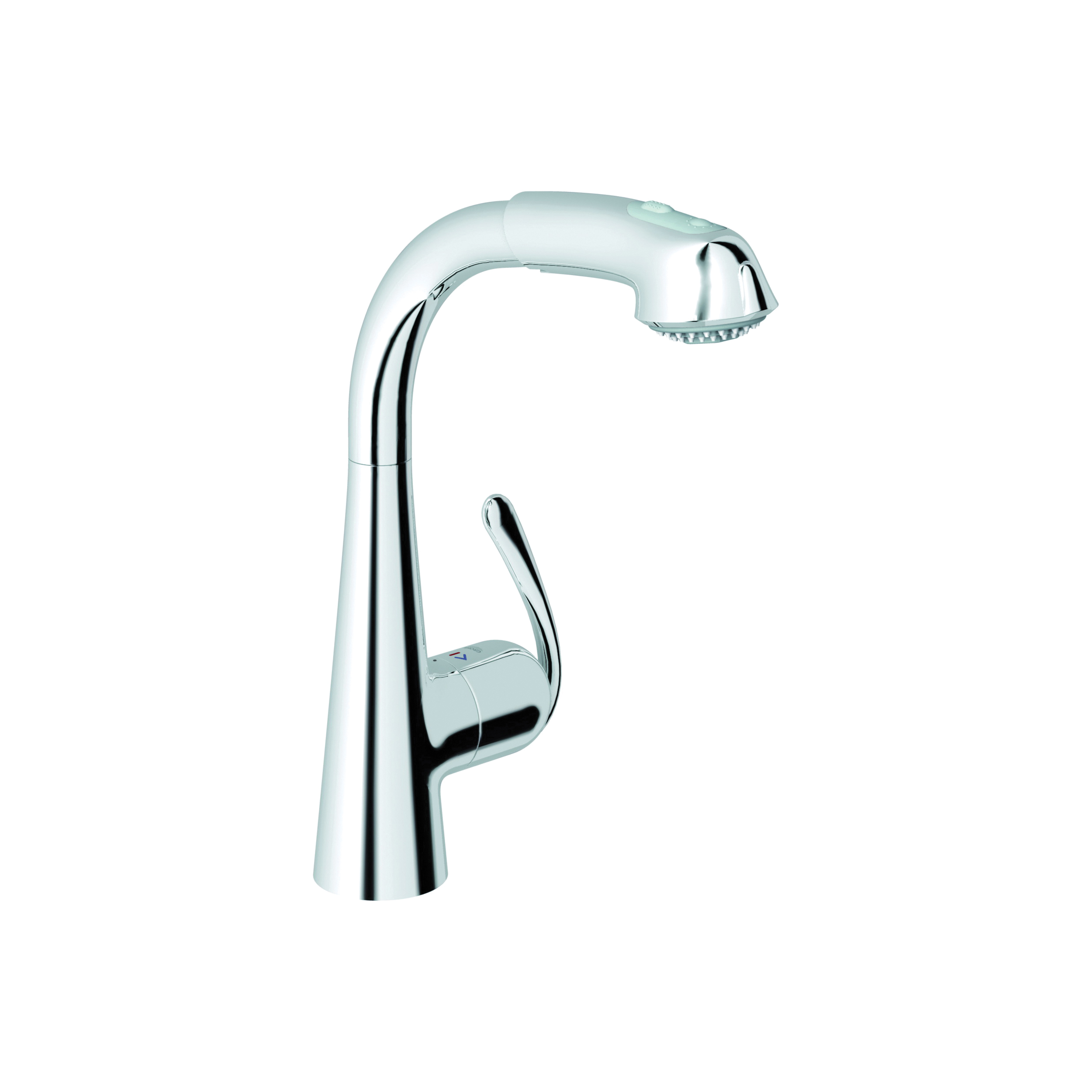 GROHE 33893000 Ladylux3 Plus Sink Mixer, 1.75 gpm, 1 Handle, Chrome Plated, Import