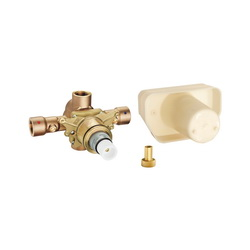 GROHE 34397000 Grohtherm Thermostat Rough-In Valve, 3/4 in FNPT Inlet x 3/4 in FNPT Outlet, 45 psi, 16 gpm, Brass Body, Import