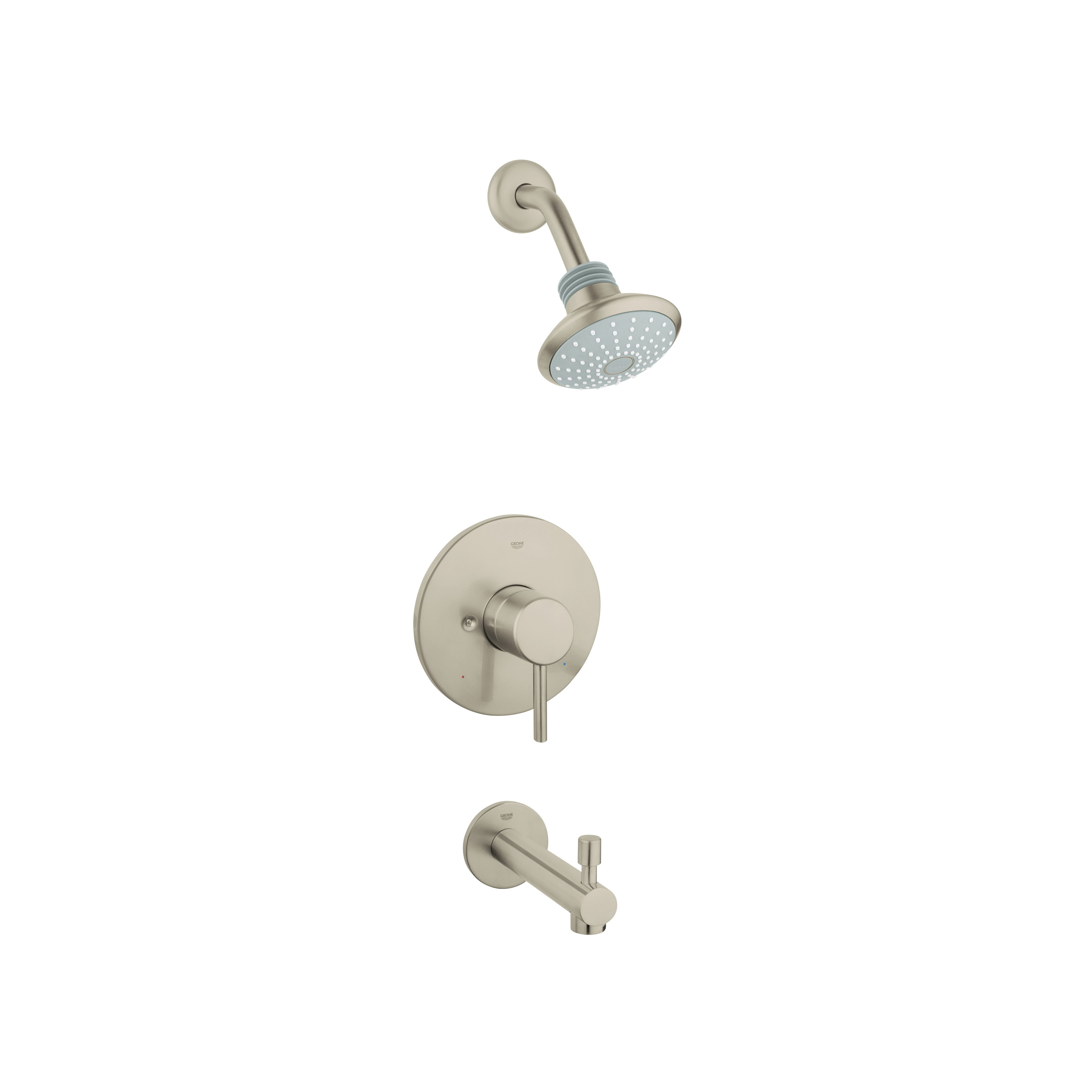 GROHE 35009EN1 Concetto Valve Bathtub/Shower Combo Faucet, 2.5 gpm Shower, Brushed Nickel